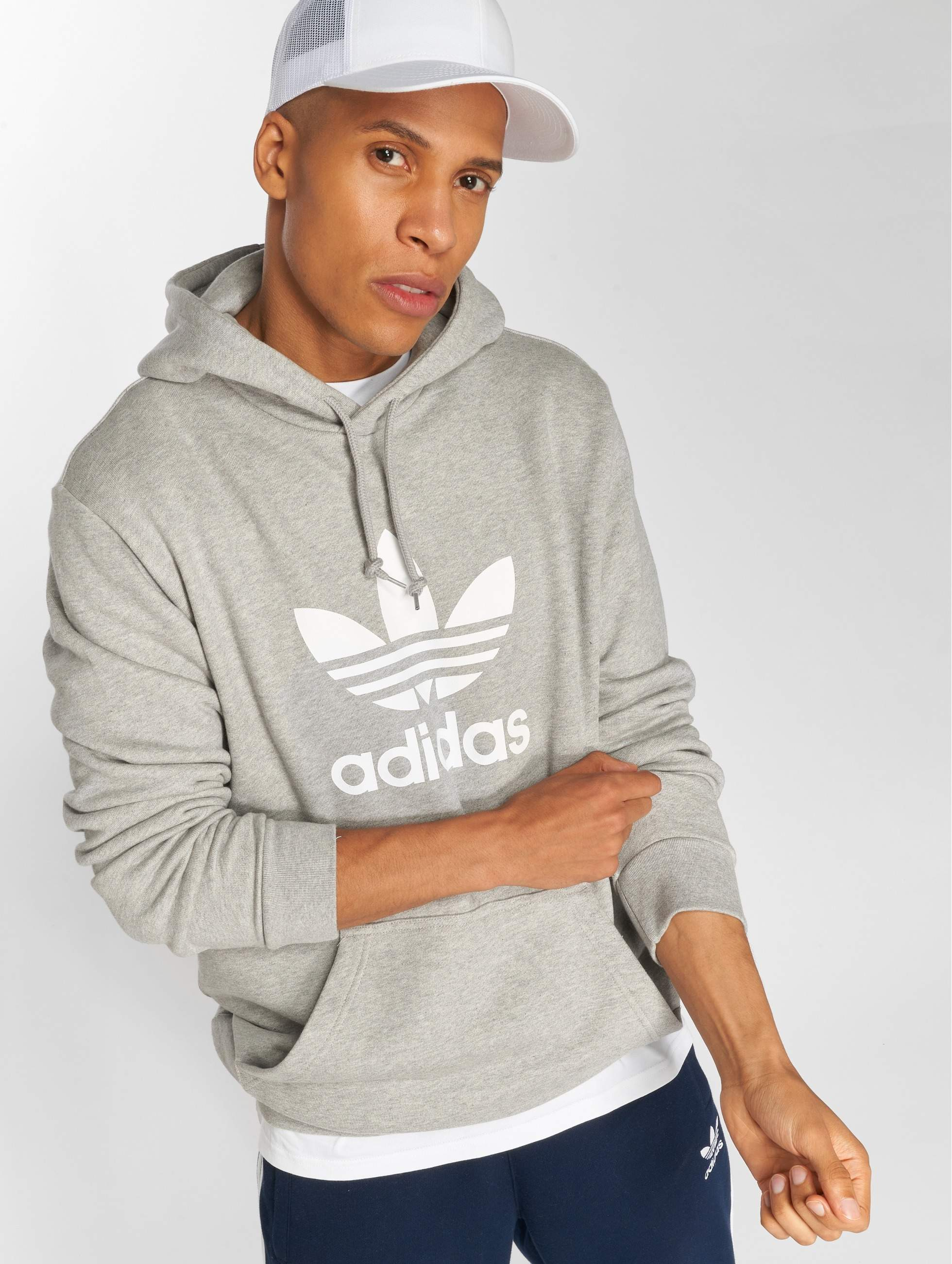 Adidas Originals Trefoil Hoodie Hoody Medium Grey Heather