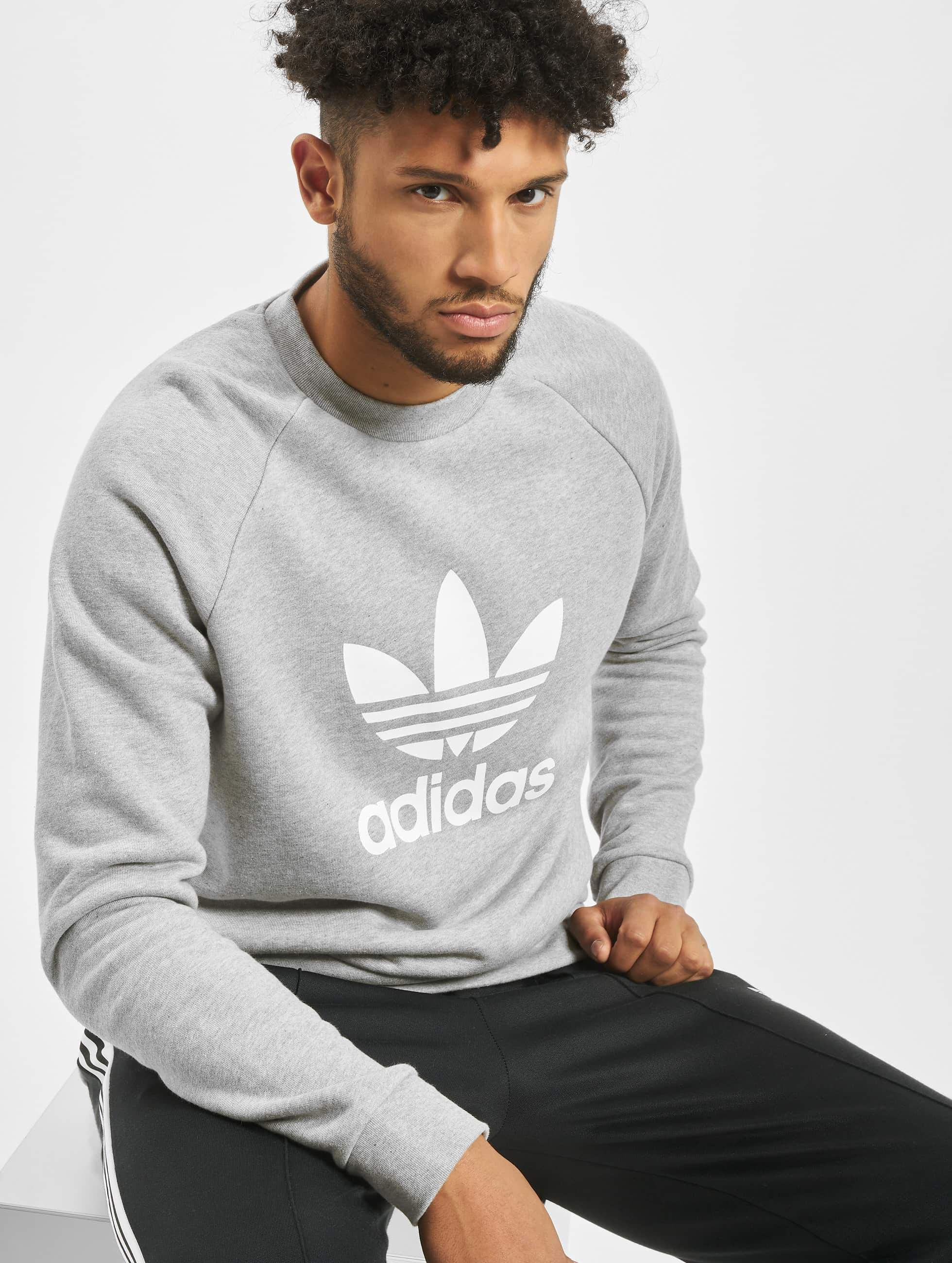 Adidas Trefoil Sweatshirt Medium Grey Heather