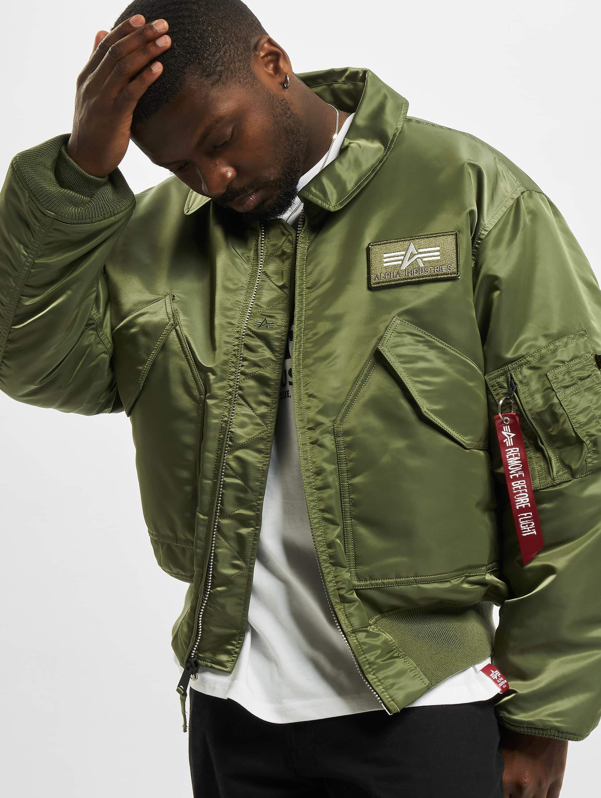 Alpha Industries Jas Bomberjack Cwu 45p Flight In Groen 7846
