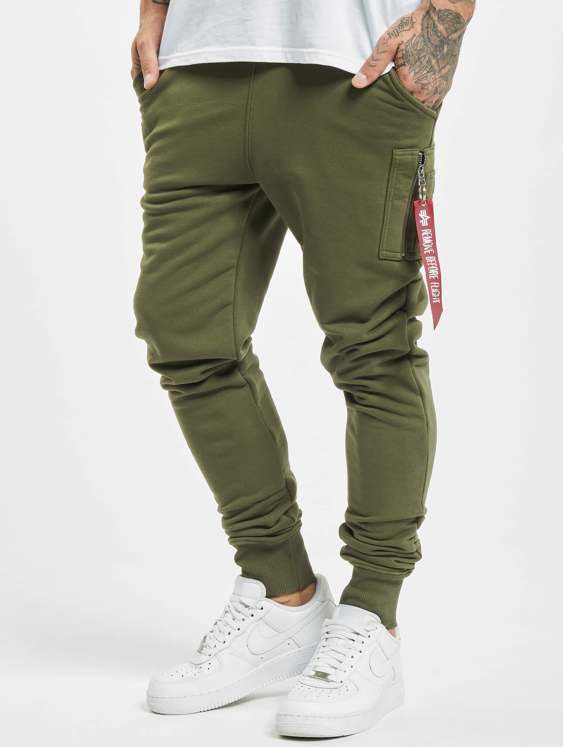 Joggingbroek Groen.Alpha Industries Broek Joggingbroek X Fit In Groen 462402