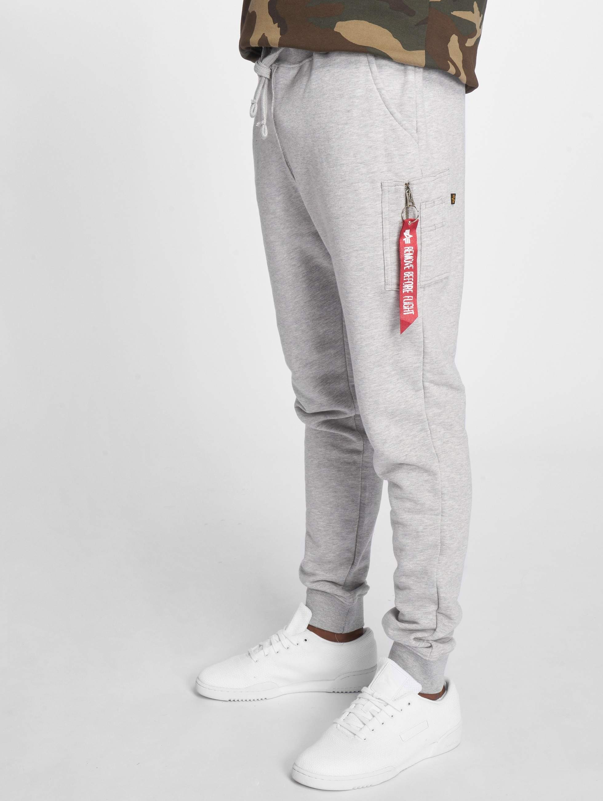 new products 2acbc afe12 Alpha Industries X-Fit Slim Cargo Sweatpants Grey Heather