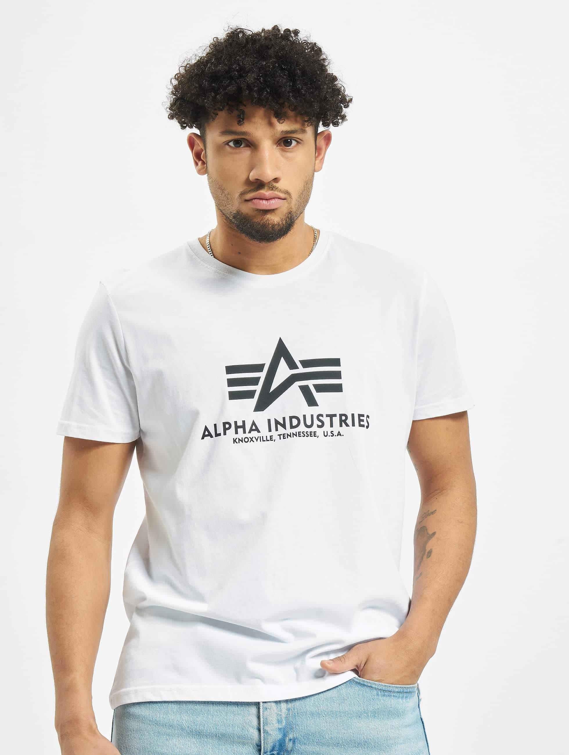 przystojny tanie jak barszcz wykwintny styl Alpha Industries Basic T-Shirt White
