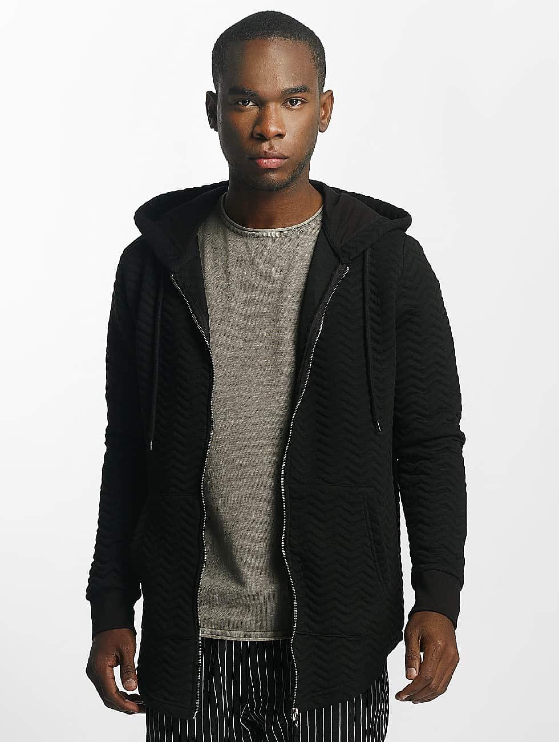 Bangastic Striped Zip Hoody Black