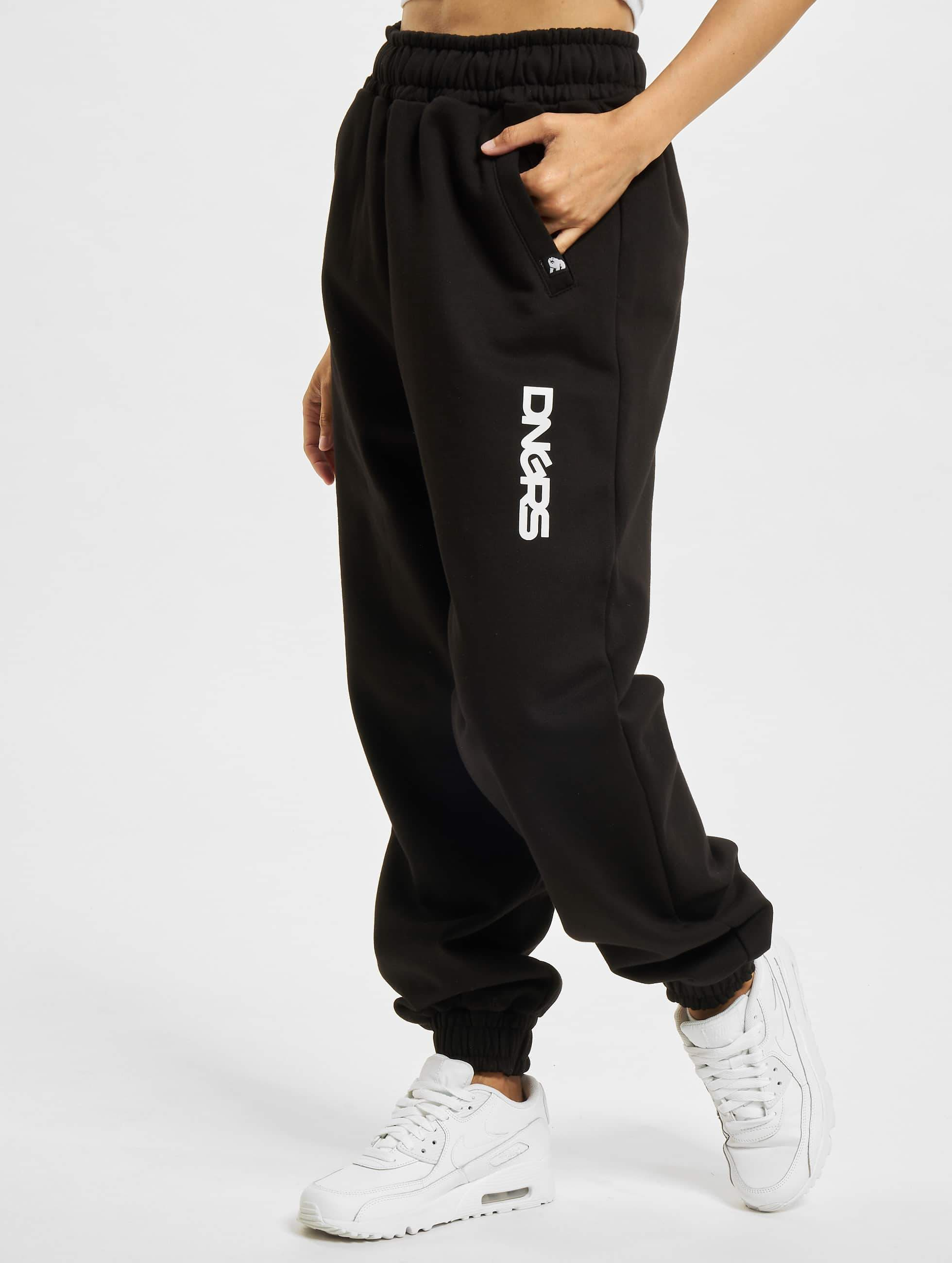 Dangerous DNGRS Soft Dream Leila Ladys Logo Sweat Pants BlackWhite