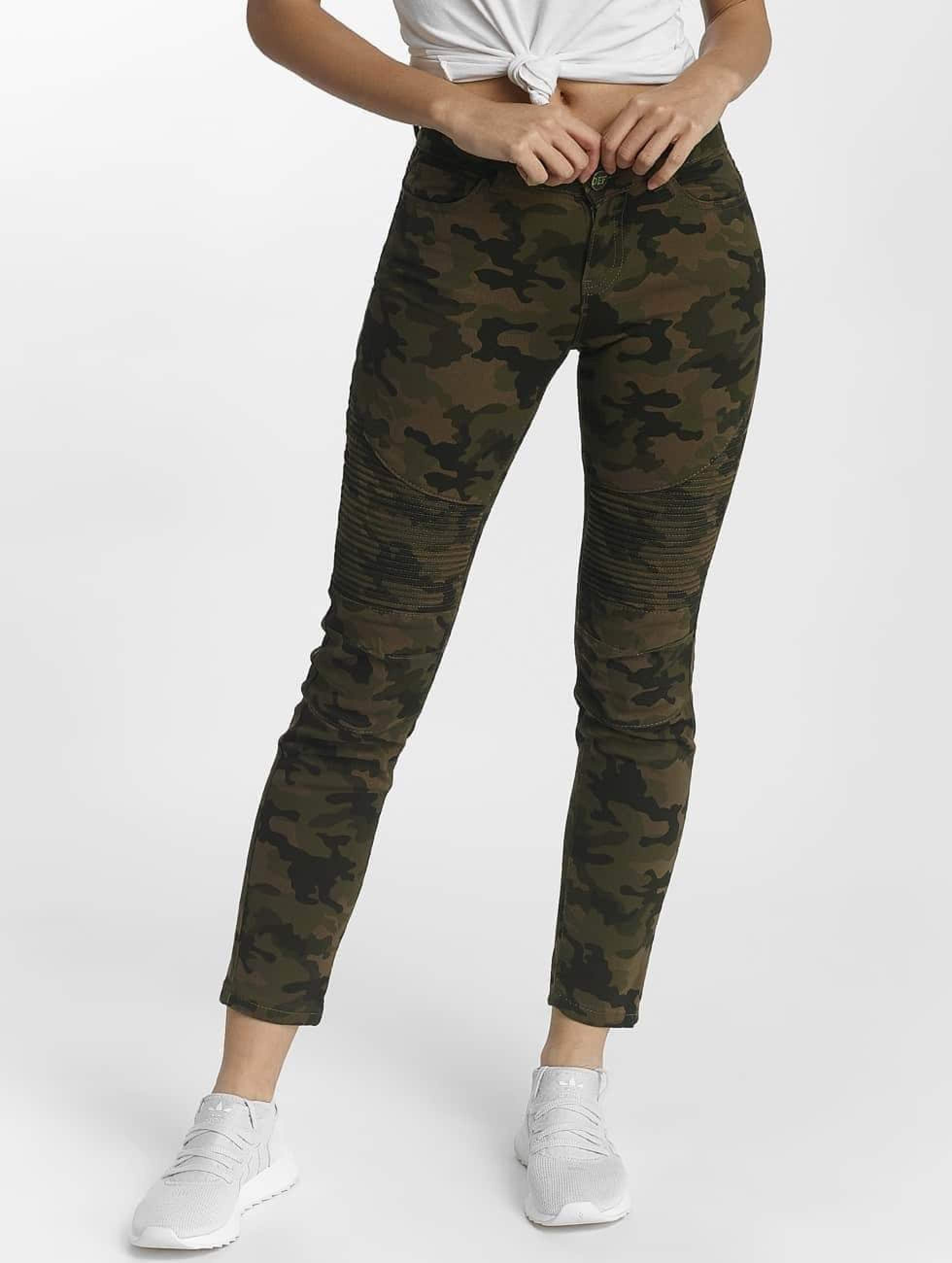 DEF Ribbed Slim Fit Jeans Camouflage