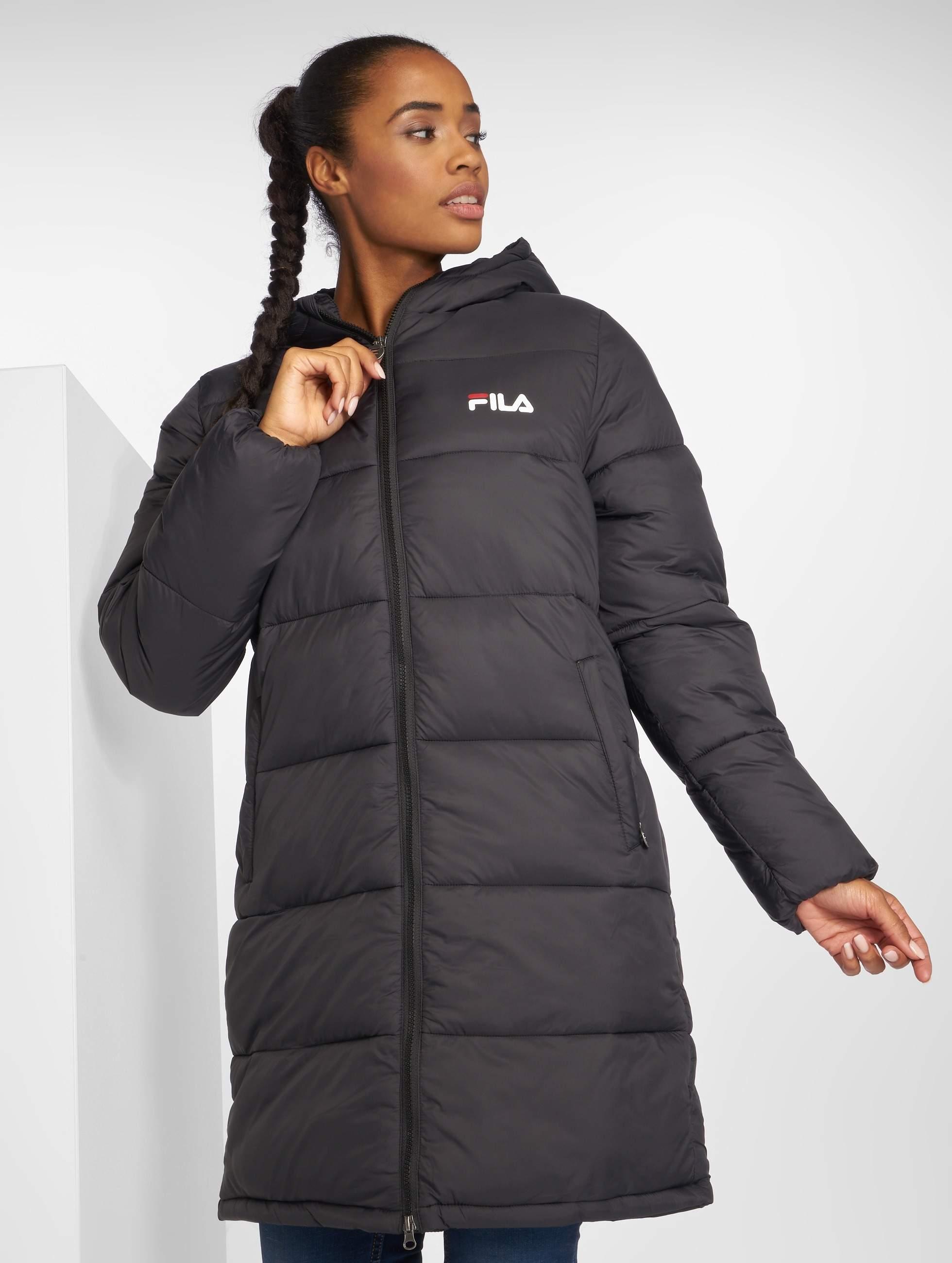 Line Zia Jacket Long Puff Fila Urban Black 45R3AjLq