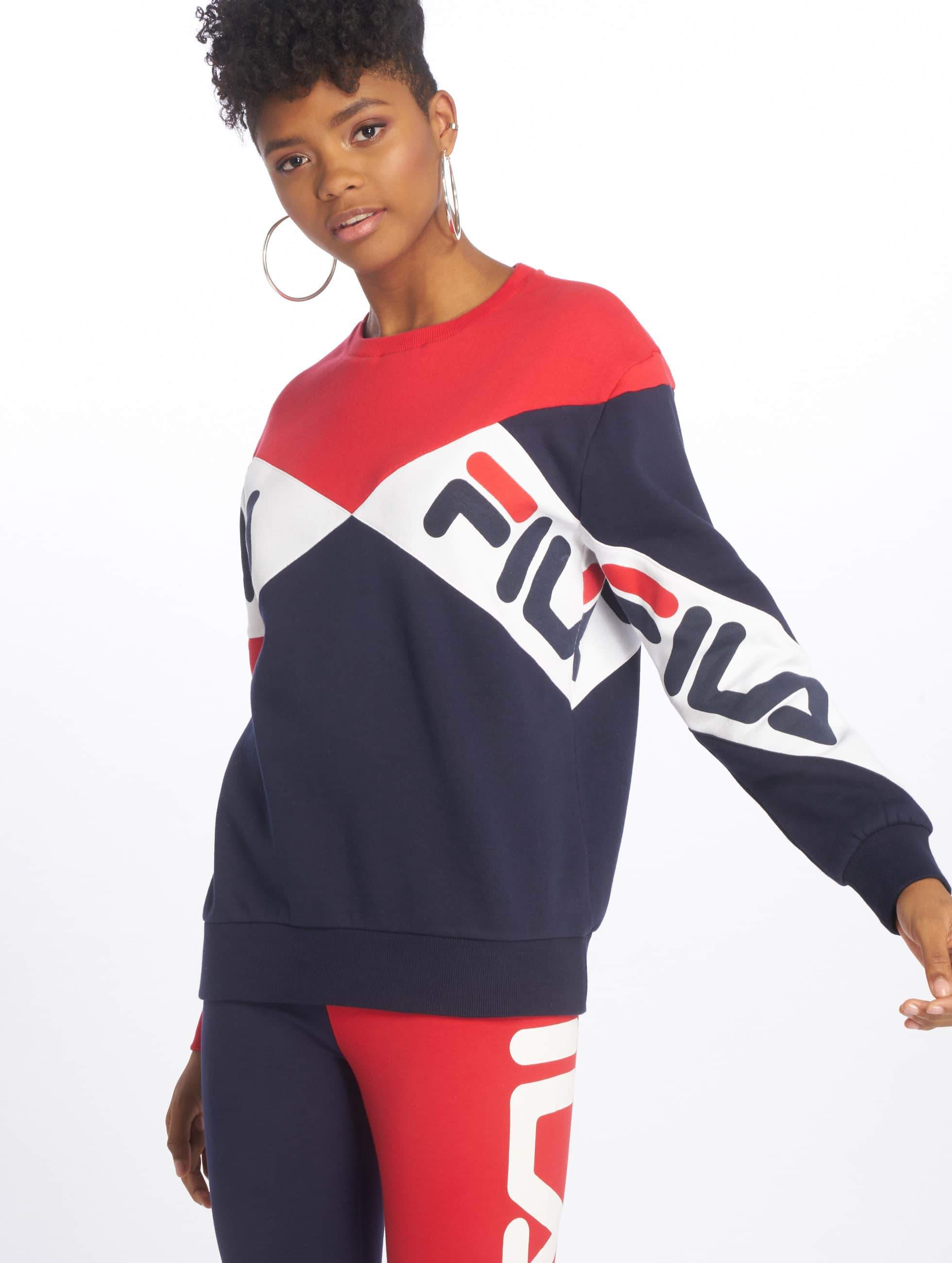 FILA Lidia Boyfriend Fit Sweatshirt Peacoat/Red