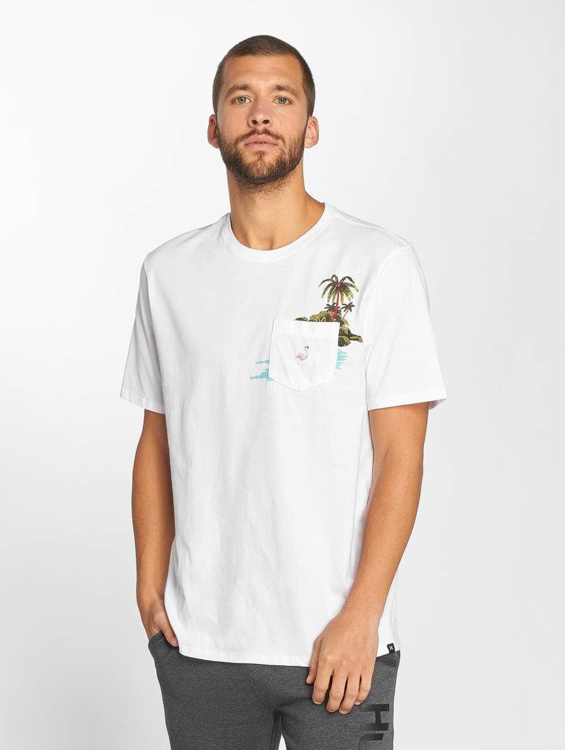 Hurley Herren T Shirt Premium Flamingo Pocket In Wei 469751