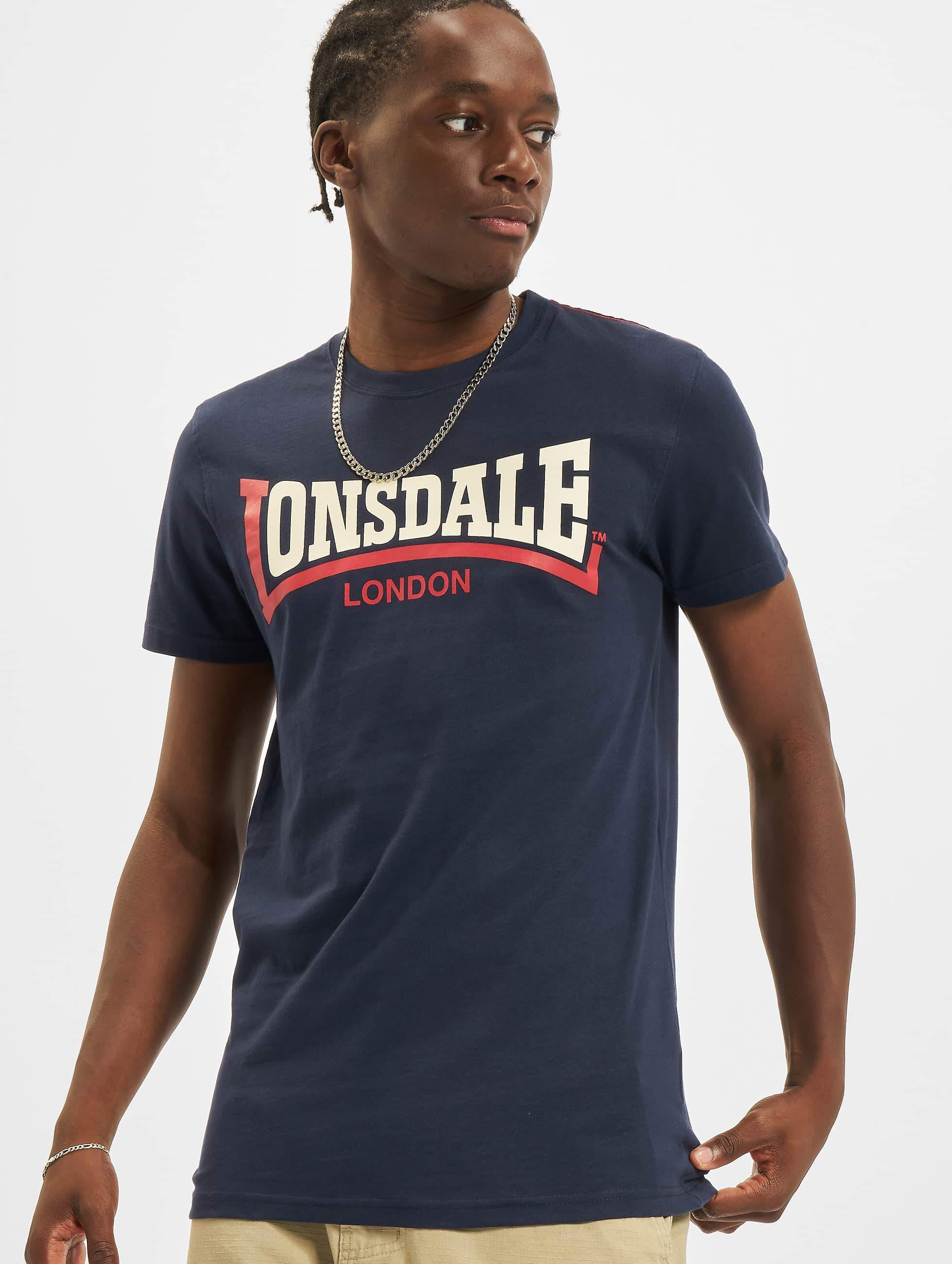 buy online 8e298 169c1 Lonsdale London Two Tone T-Shirt Navy