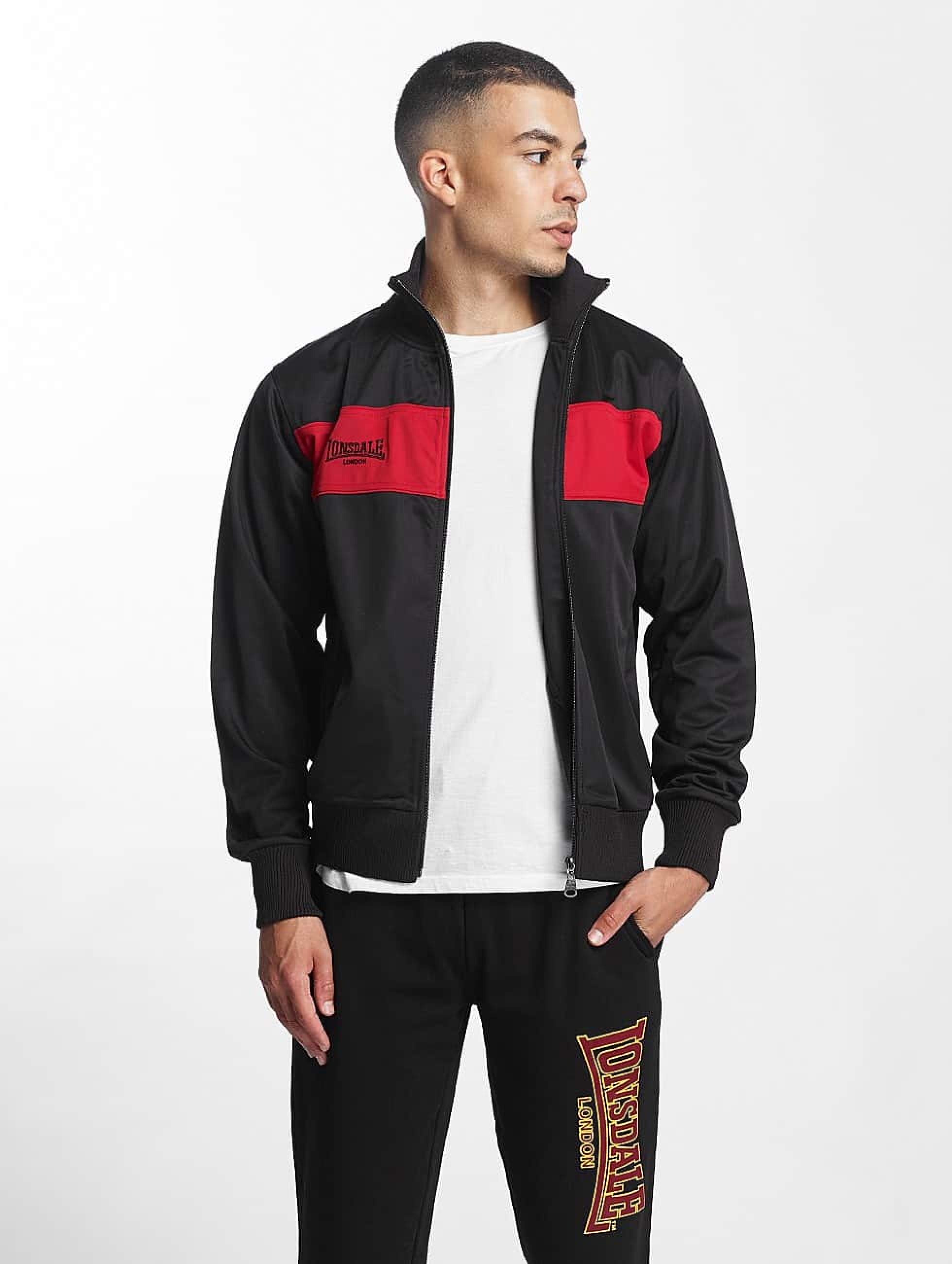 Lonsdale London Alnwick Tricot Jacket BlackRed