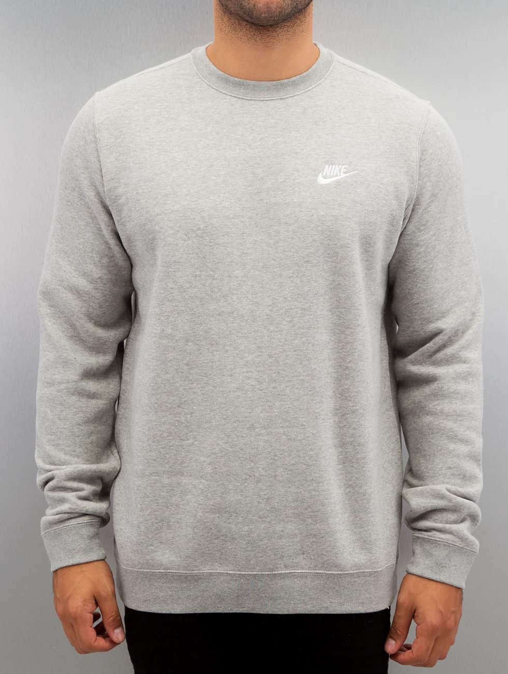 cheap for discount ebe71 be531 Nike NSW Fleece Club Sweatshirt Dark Grey Heather/White