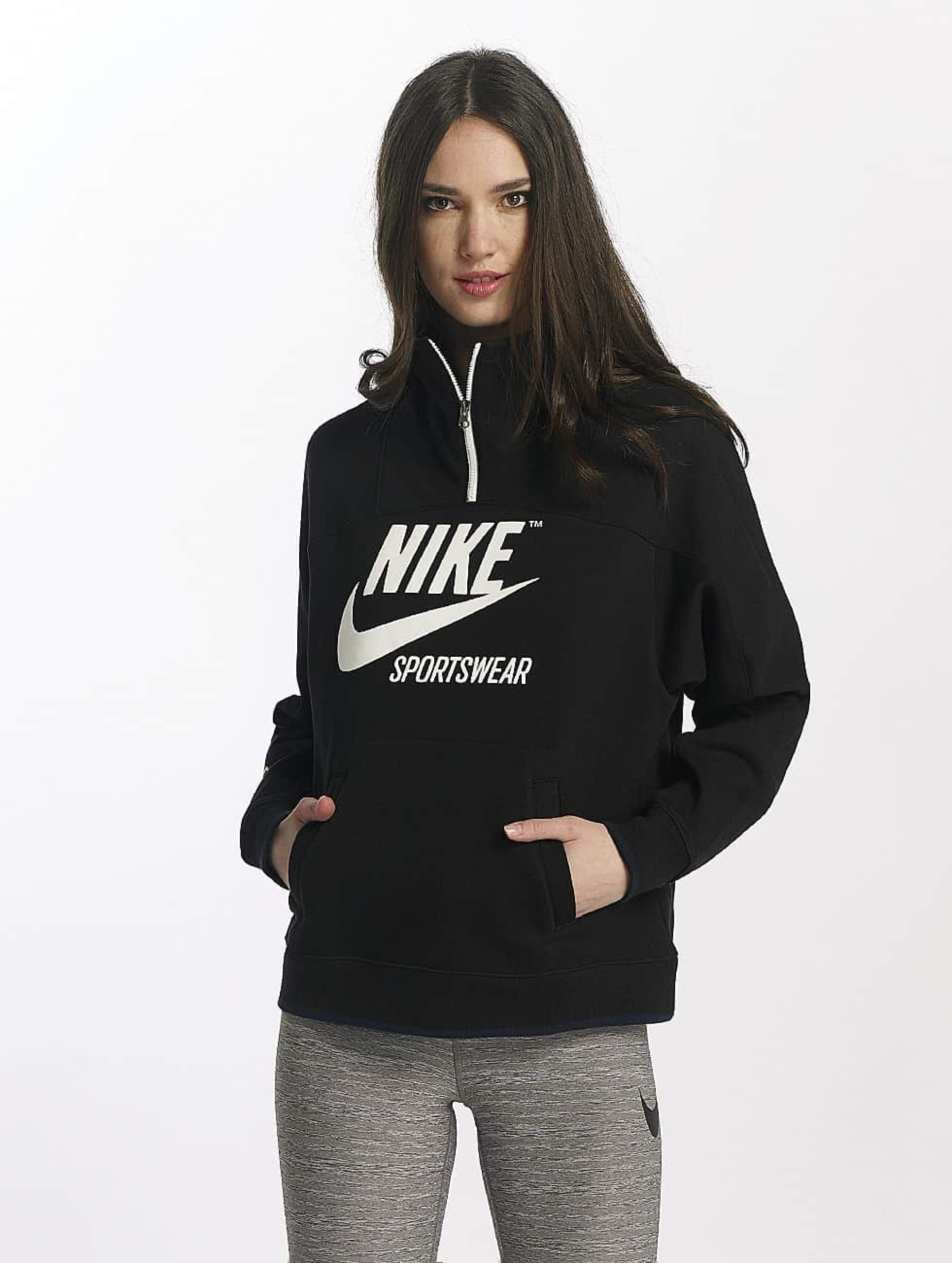 413424 In Nike Pullover Damen Sweatshirt Sportswear Schwarz Y7yqhv6sn