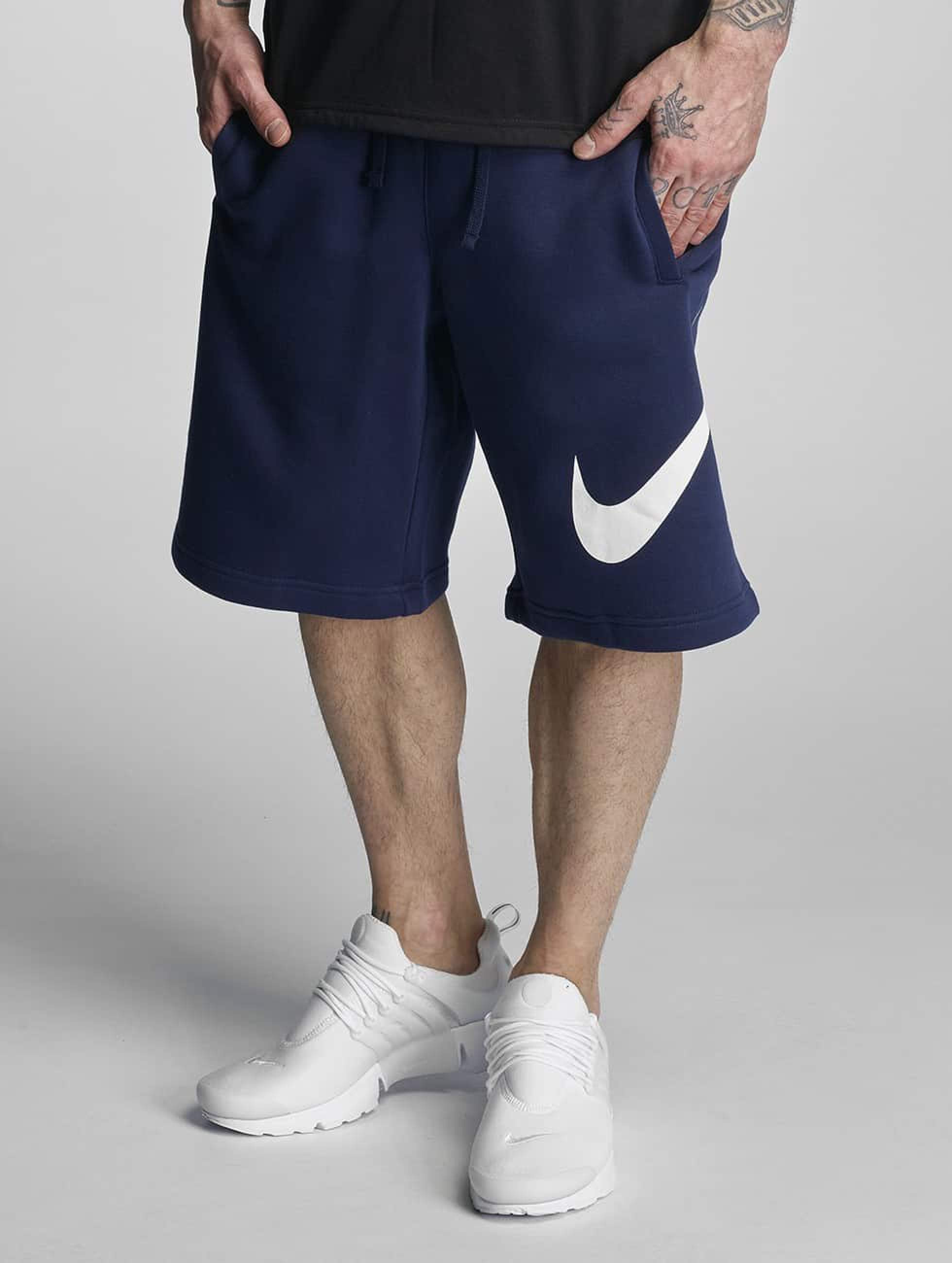 Nike FLC EXP Club Shorts ObsidianWhite