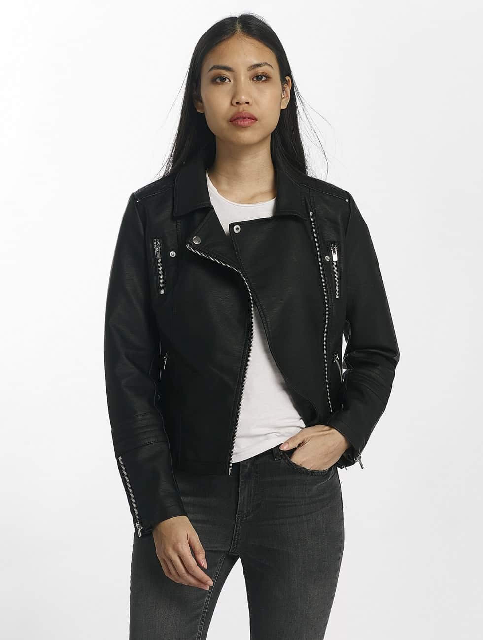 Turnschuhe Fabrik authentisch Super Qualität Only onlGemma Faux Leather Biker Jacket Black