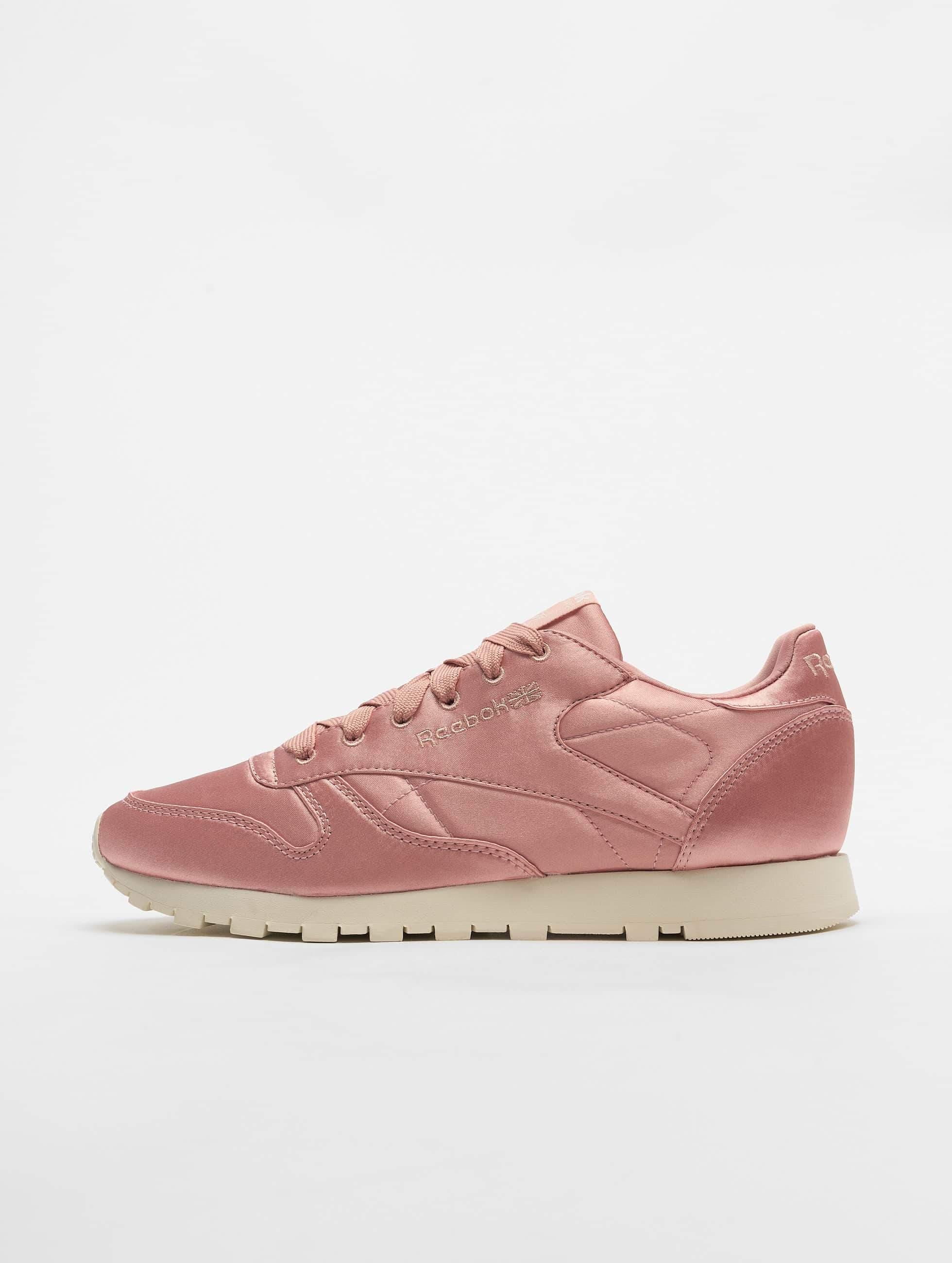 Reebok Classic Leather Satin Sneakers Chalk PinkClassic White