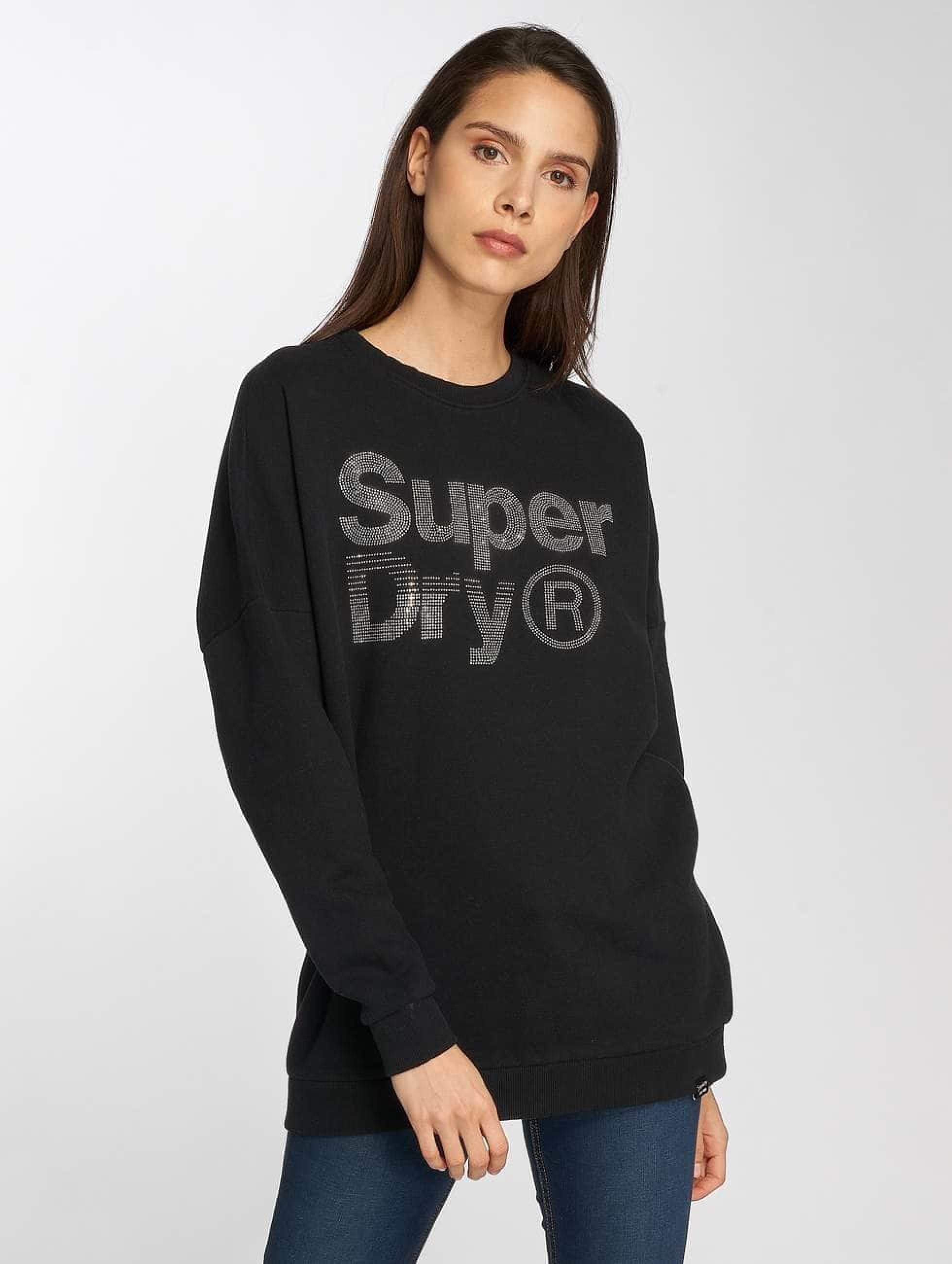 Noir Sparkle Superdry Amp; Sweat 449642 Skater Femme Pull Zzwr5 x54OwXCIq