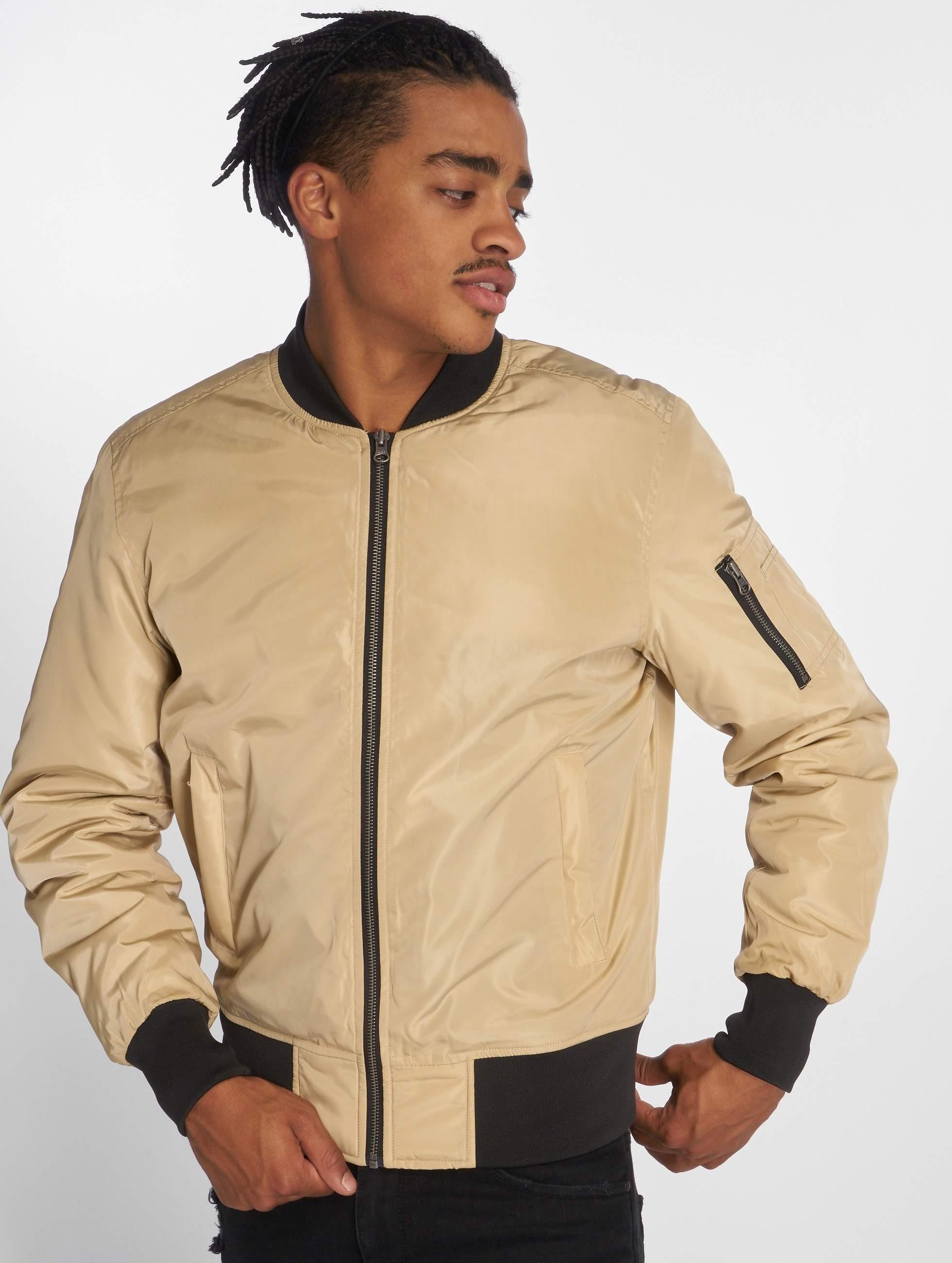355d7abc Urban Classics jas / Bomberjack 2-Tone in beige 304619