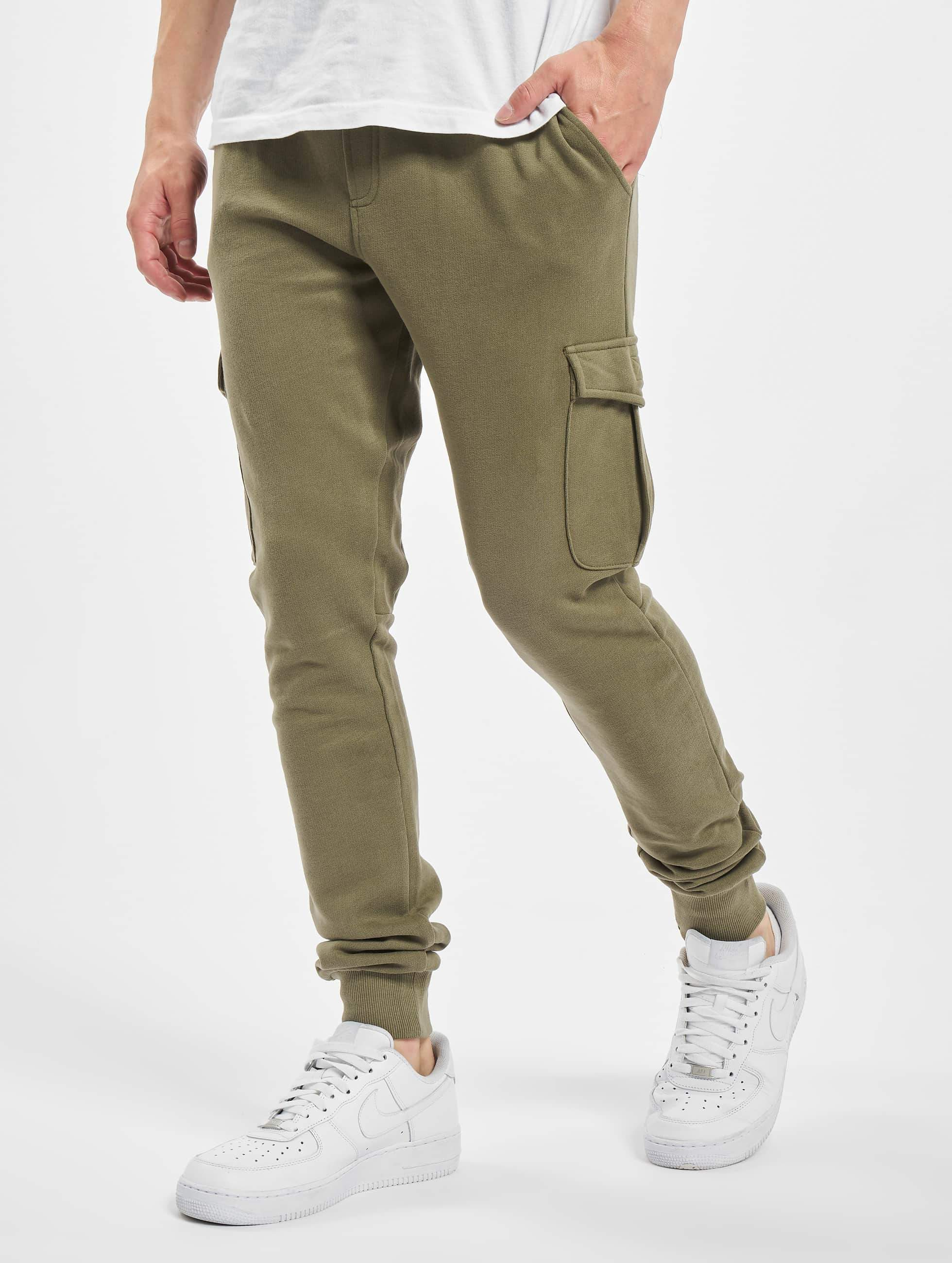 Baggy Joggingbroek Mannen.Urban Classics Broek Joggingbroek Fitted Cargo In Olijfgroen 294073