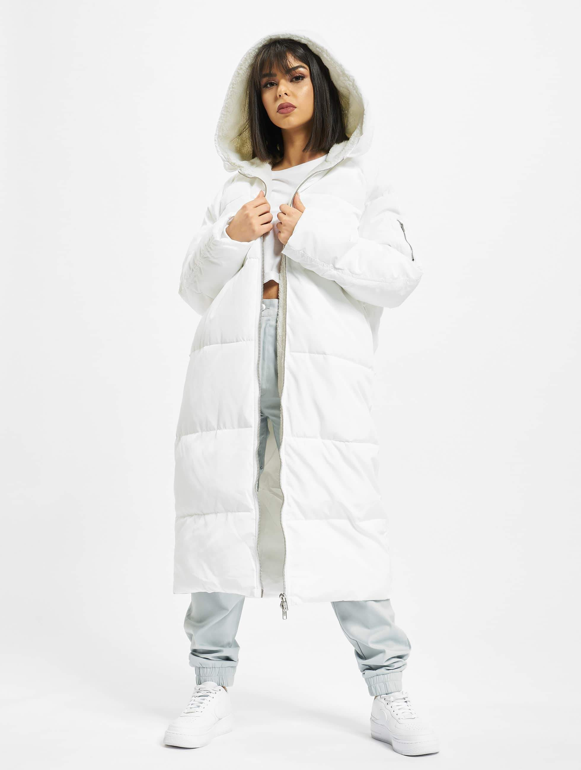 Urban Classics Oversized Hooded Puffer Coat WhiteOff White