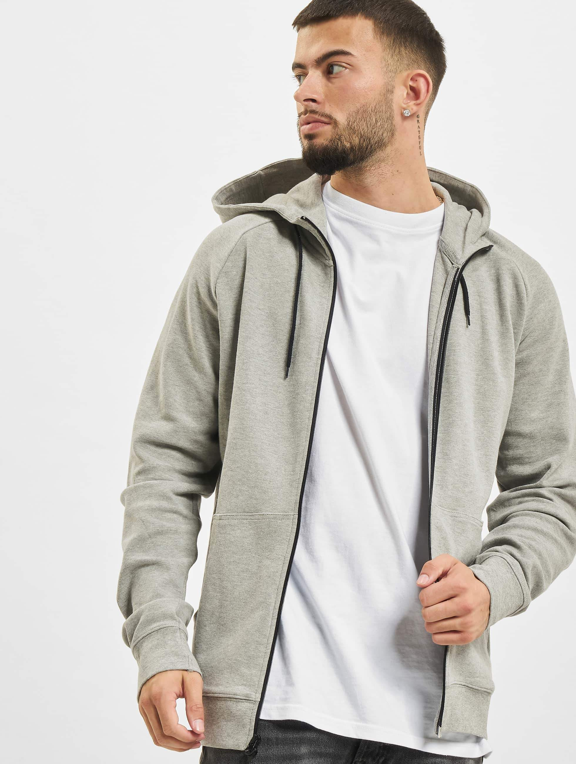 Urban Classics Heavy Interlock Zip Hoody Grey