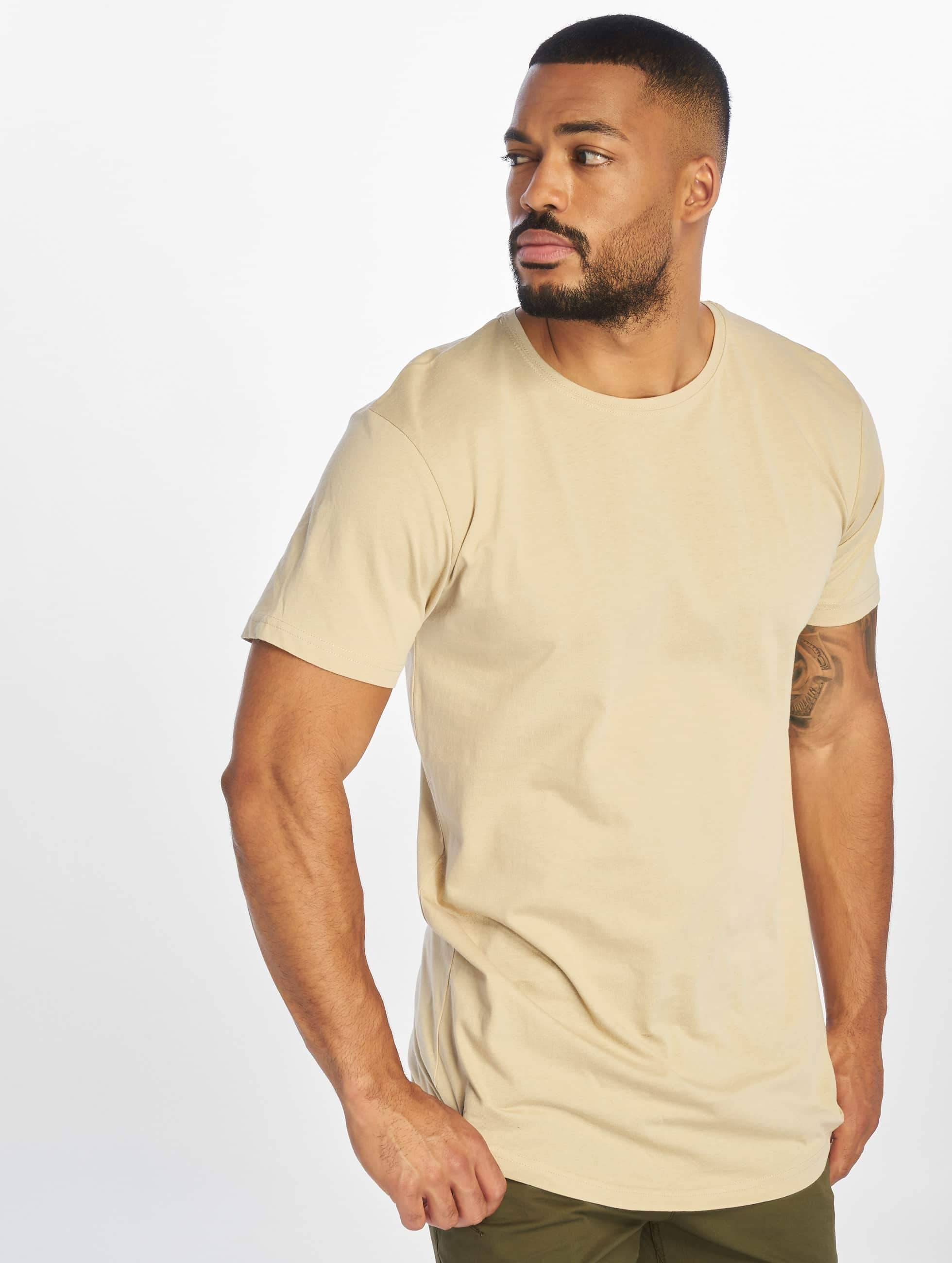 urban classics herren t shirt shaped long in beige 294486. Black Bedroom Furniture Sets. Home Design Ideas