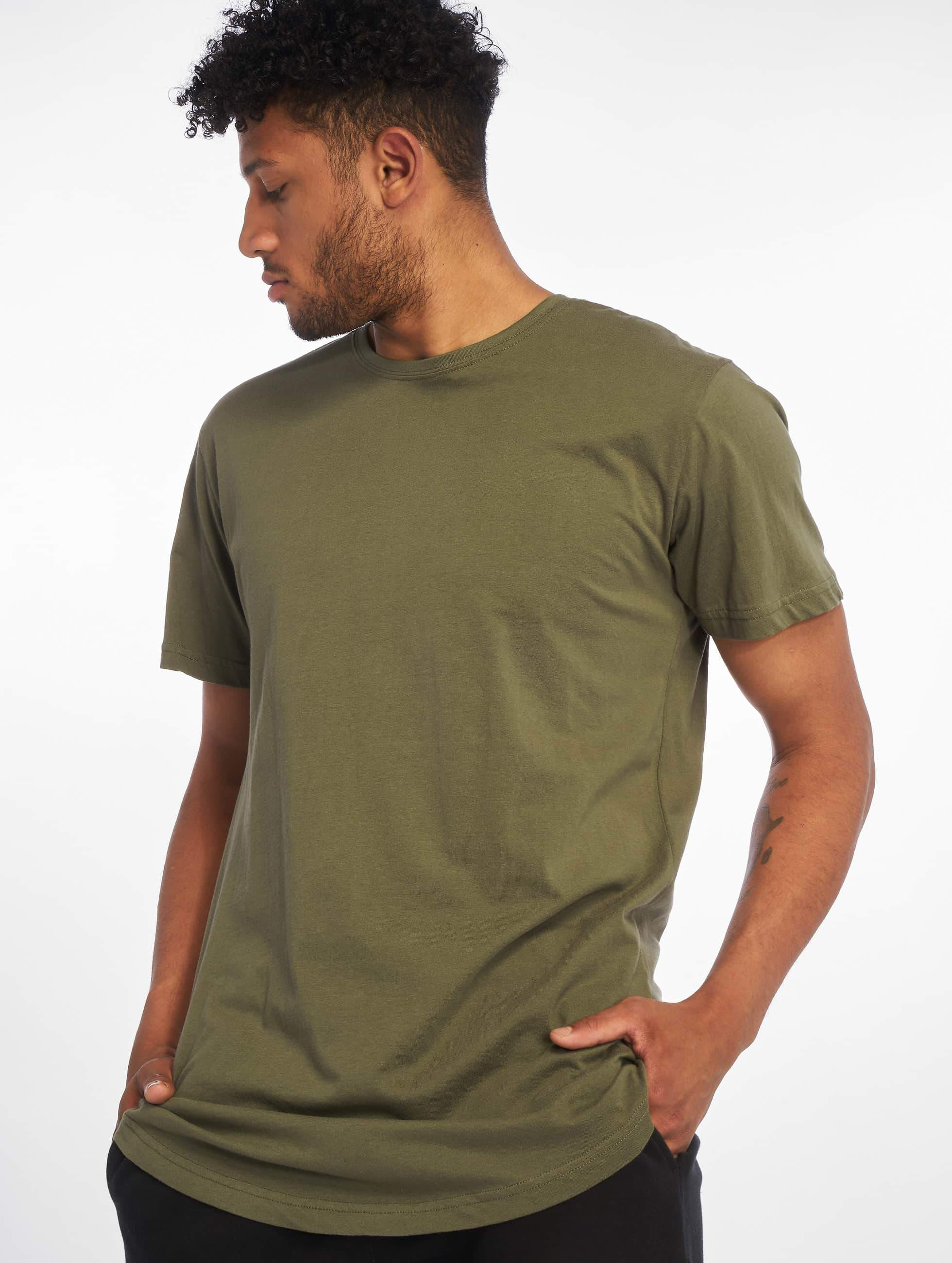 urban classics herren t shirt shaped long in olive 294489. Black Bedroom Furniture Sets. Home Design Ideas