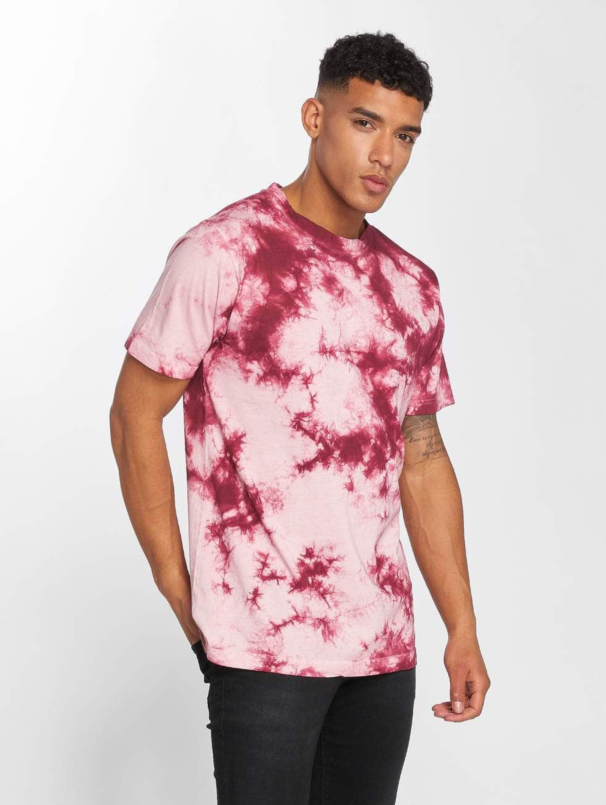 urban classics herren t shirt batik in pink 475758. Black Bedroom Furniture Sets. Home Design Ideas