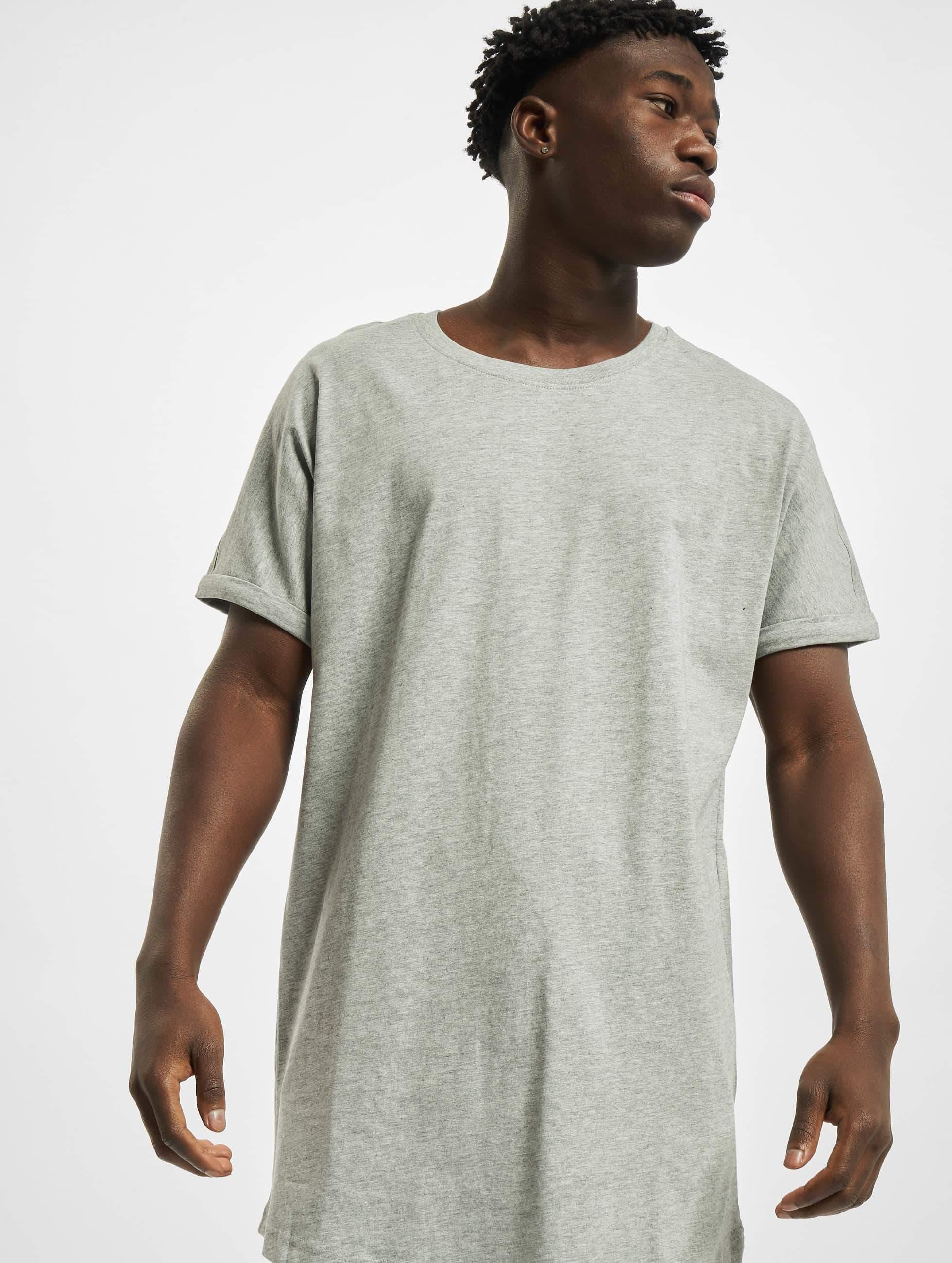 Urban Classics Long Shaped Turnup T Shirt Grey