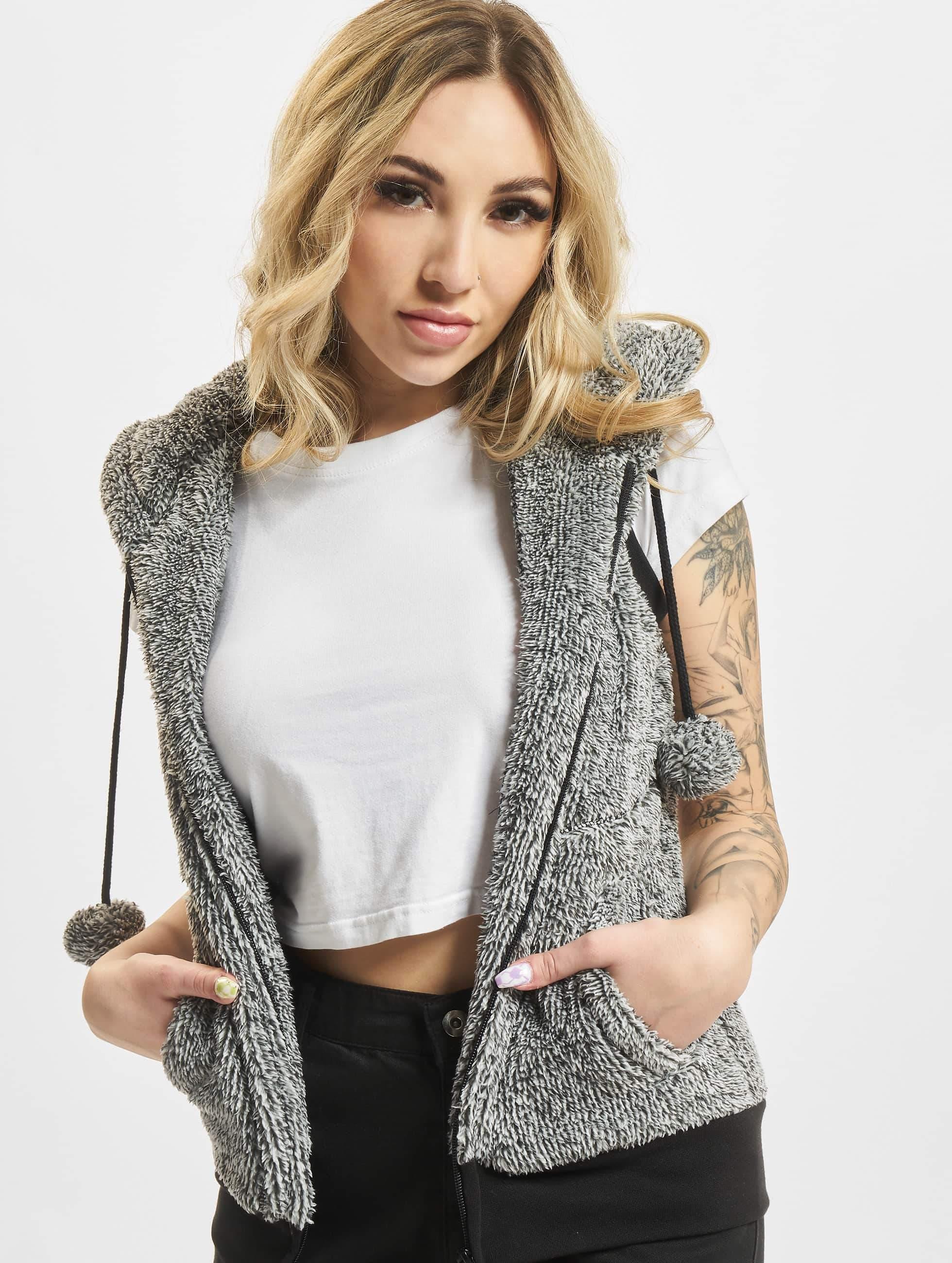 Urban Melange Teddy Blackwhite Vest Classics If7mYbg6yv