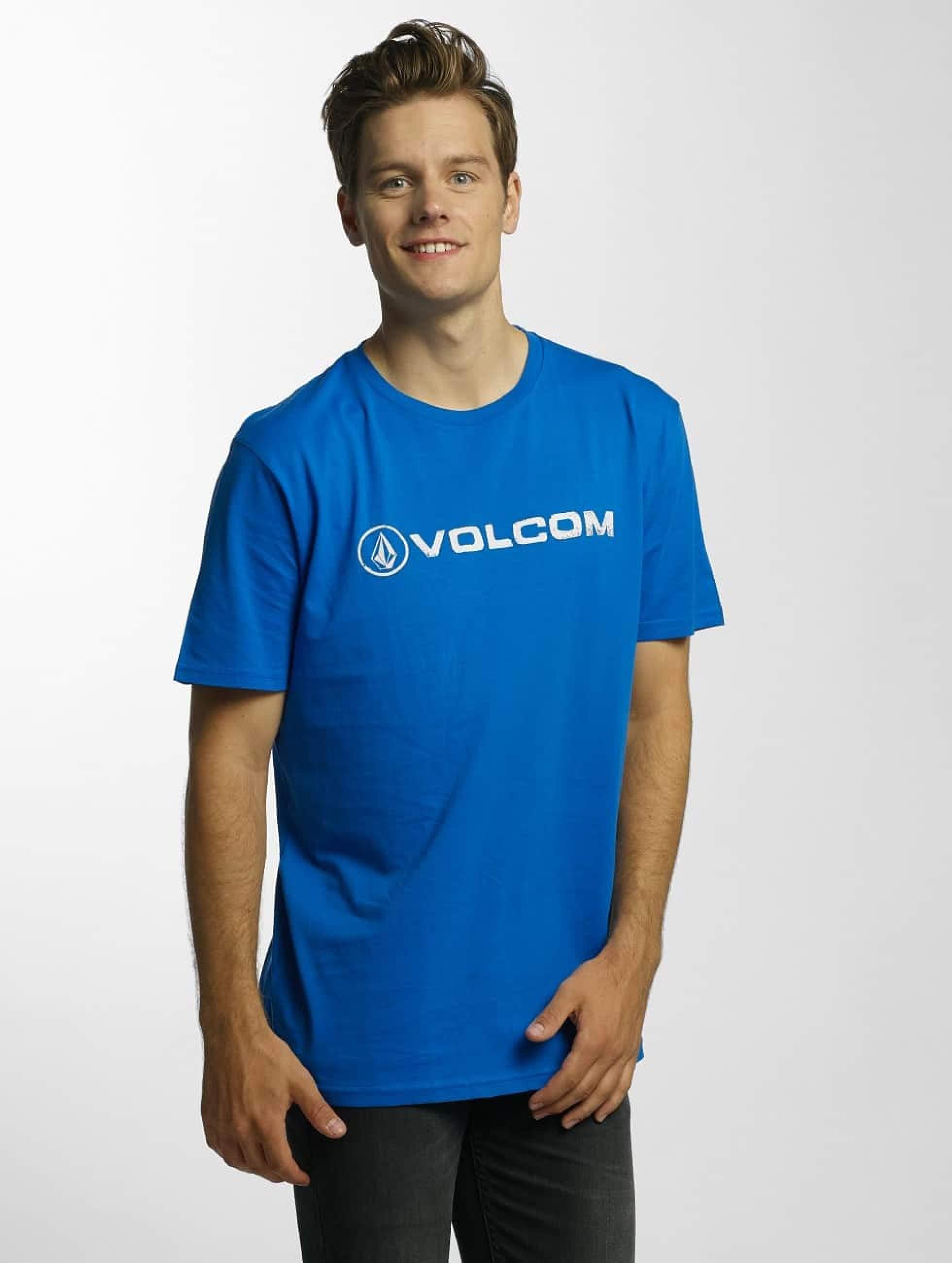 Volcom Line Euro Basic T Shirt True Blue