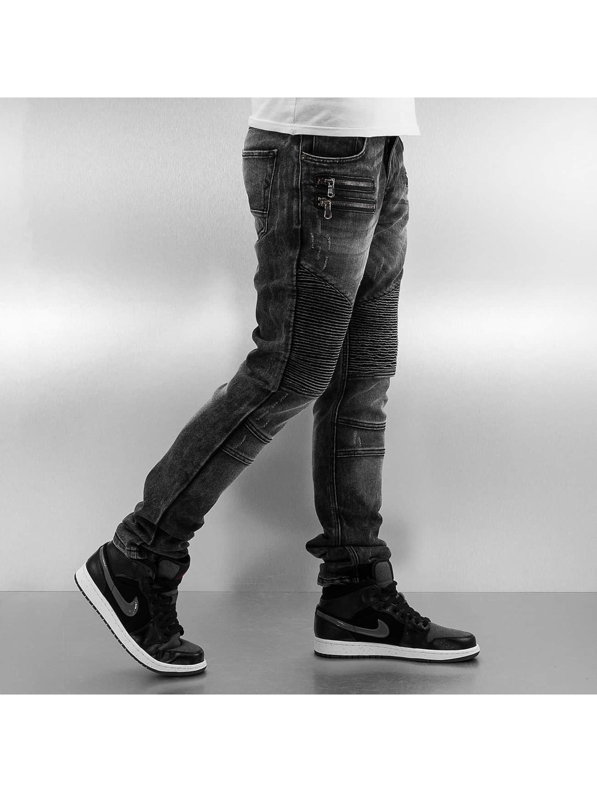 2Y Облегающие джинсы Zip серый