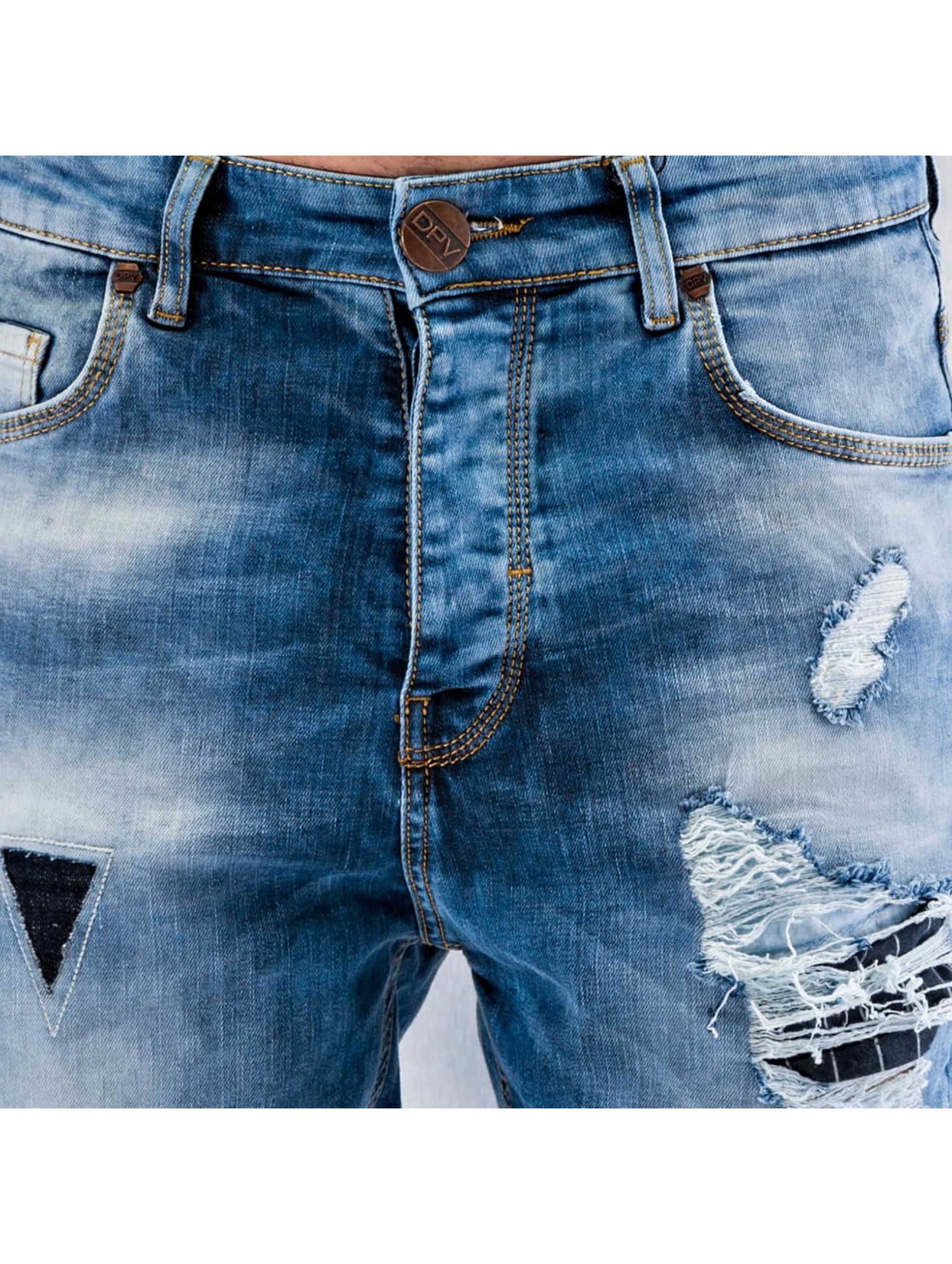 2Y Облегающие джинсы Patchwork синий
