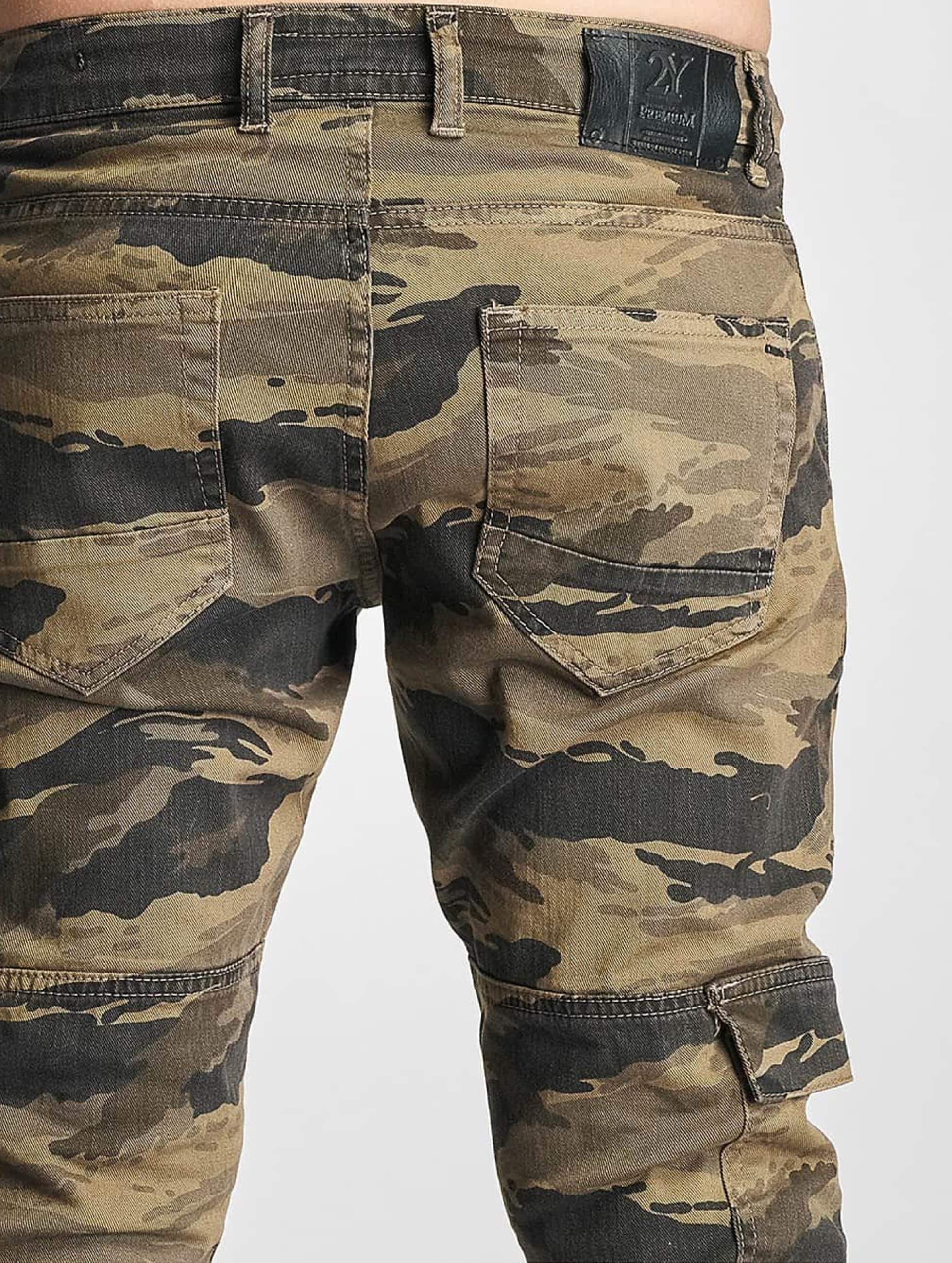 2Y Cargo pants Denim camouflage