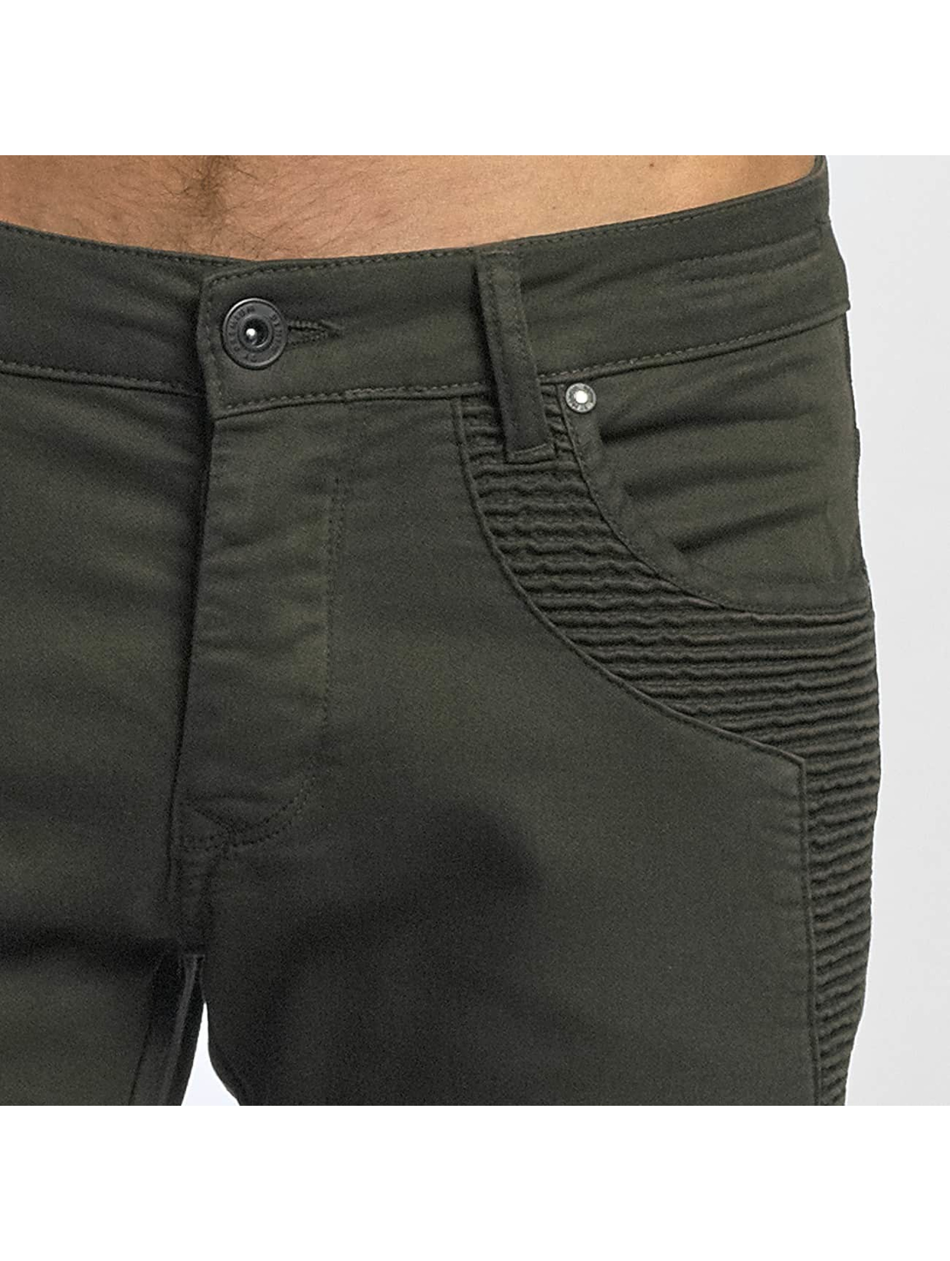 2Y dżinsy przylegające Sheffield khaki