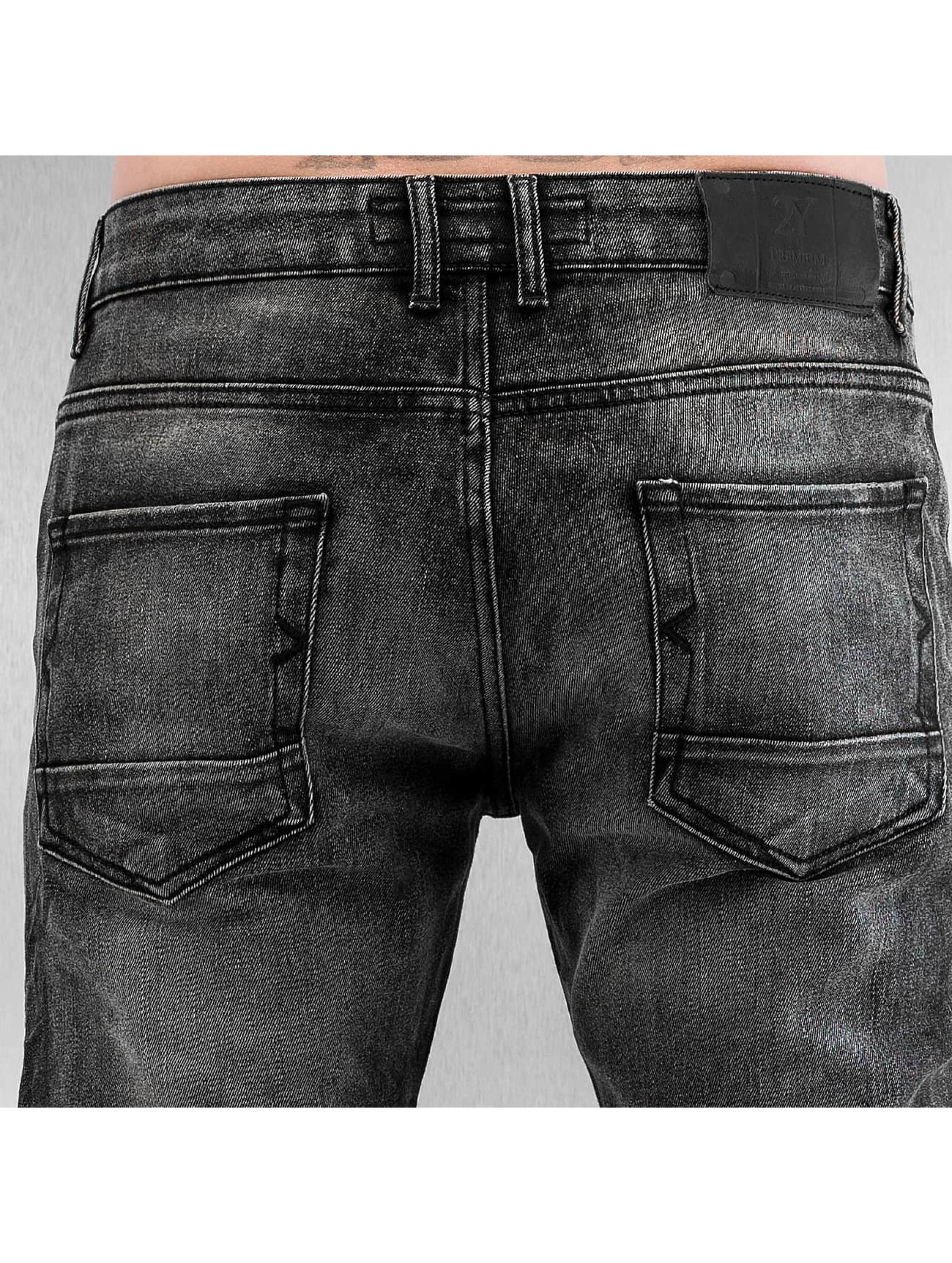 2Y Jean skinny Zip gris