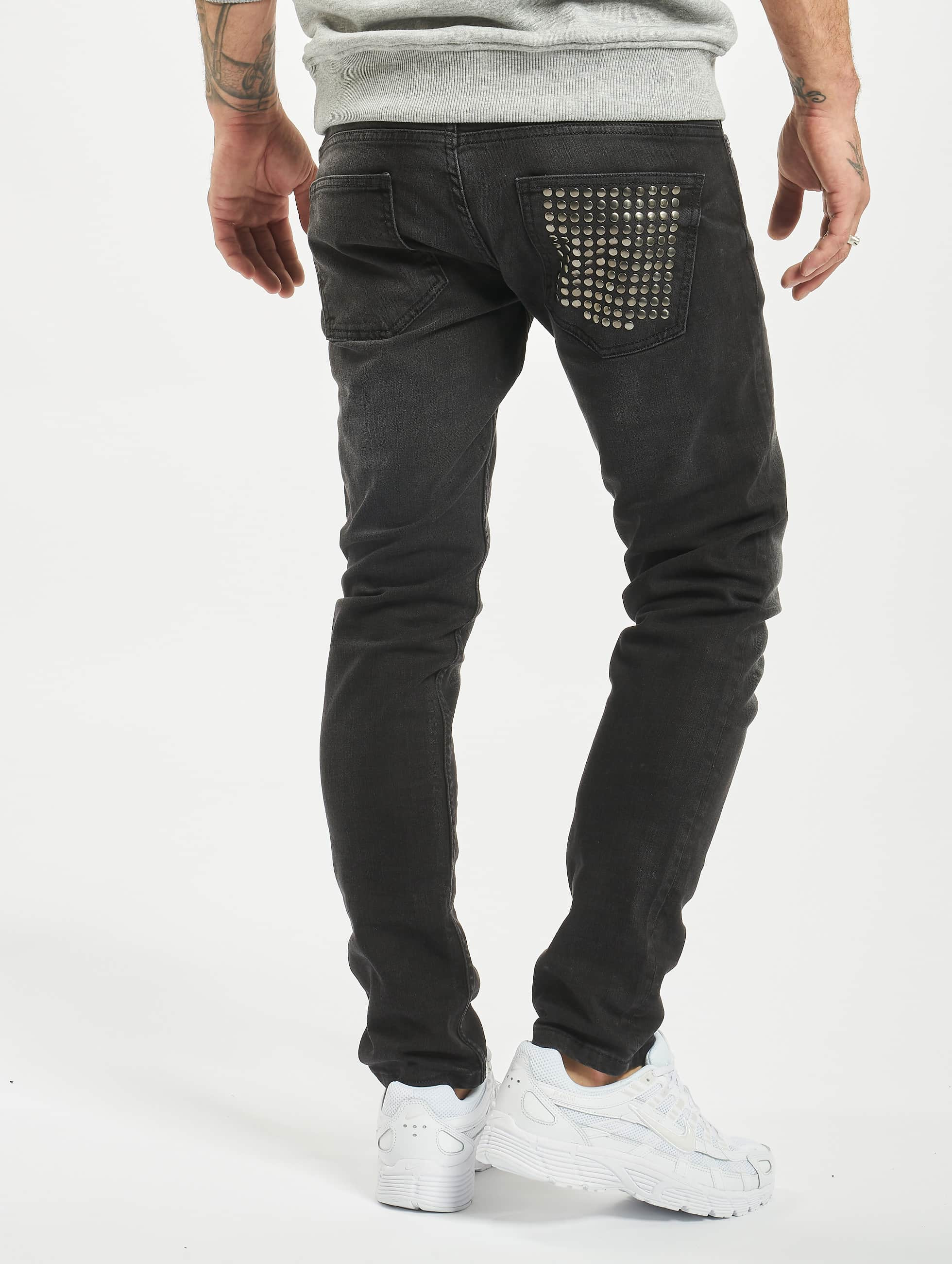 2Y Jean skinny Rivet noir