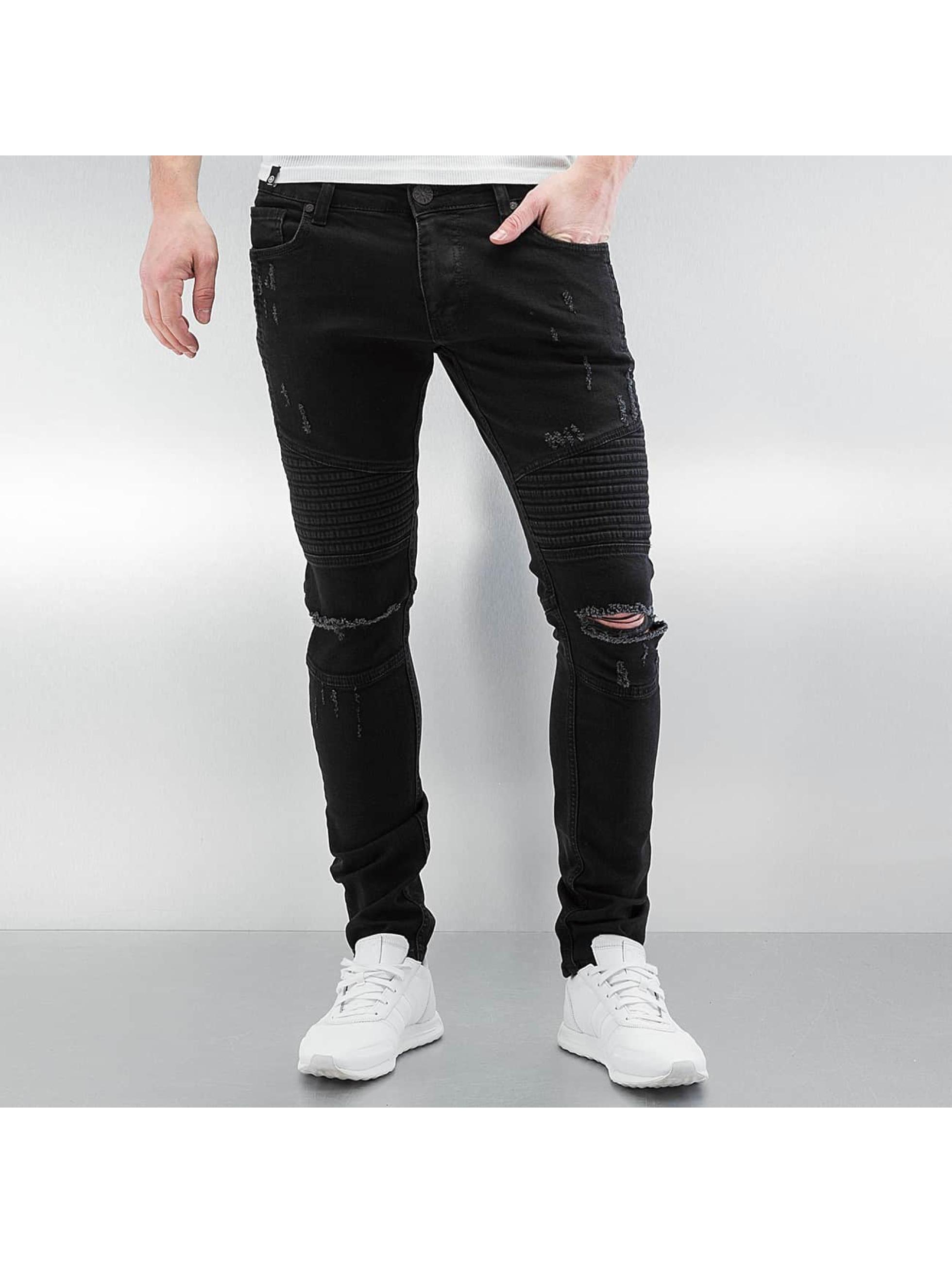 2Y Crap noir Jean skinny homme