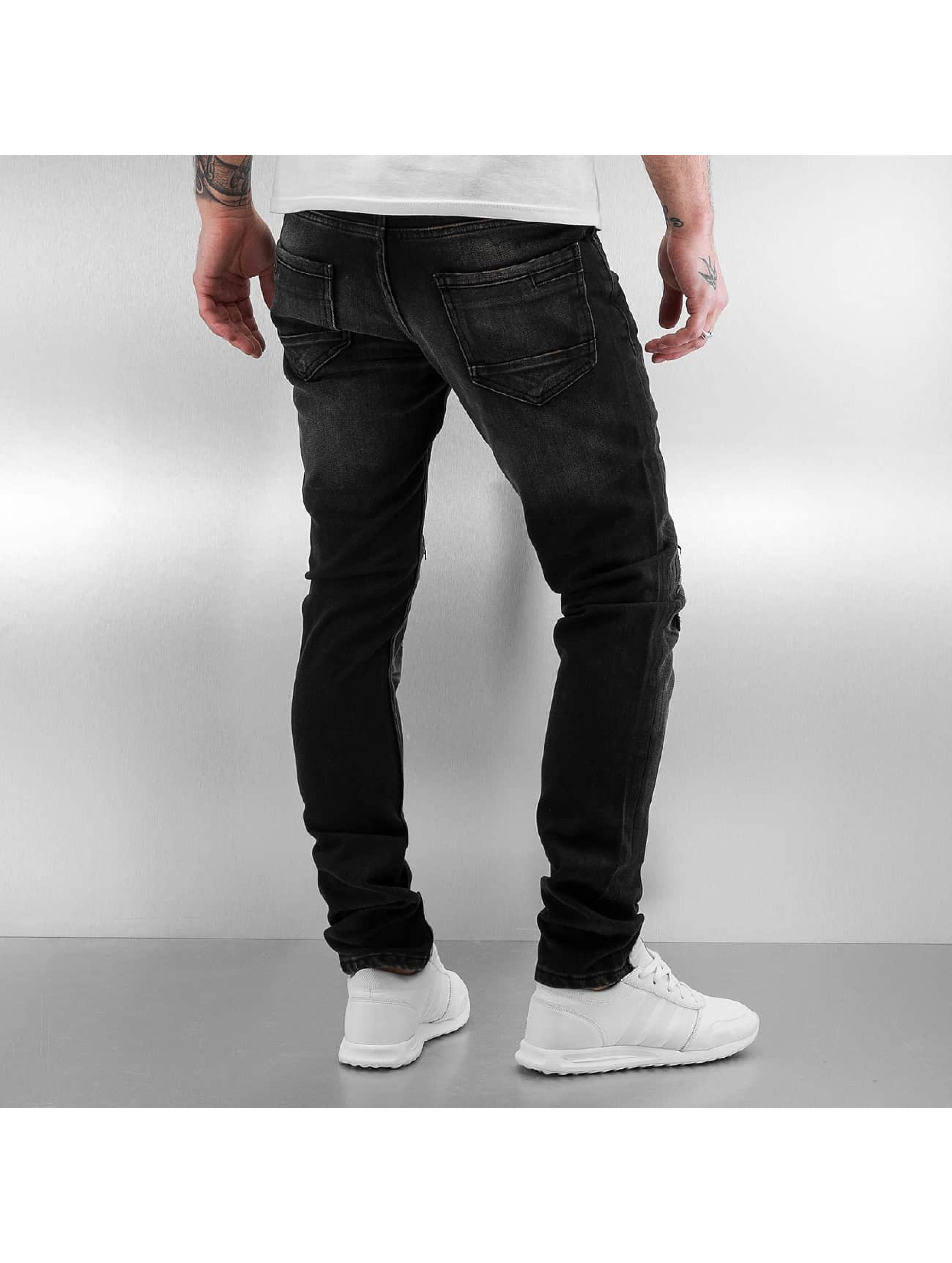 2Y Jean slim Patch gris