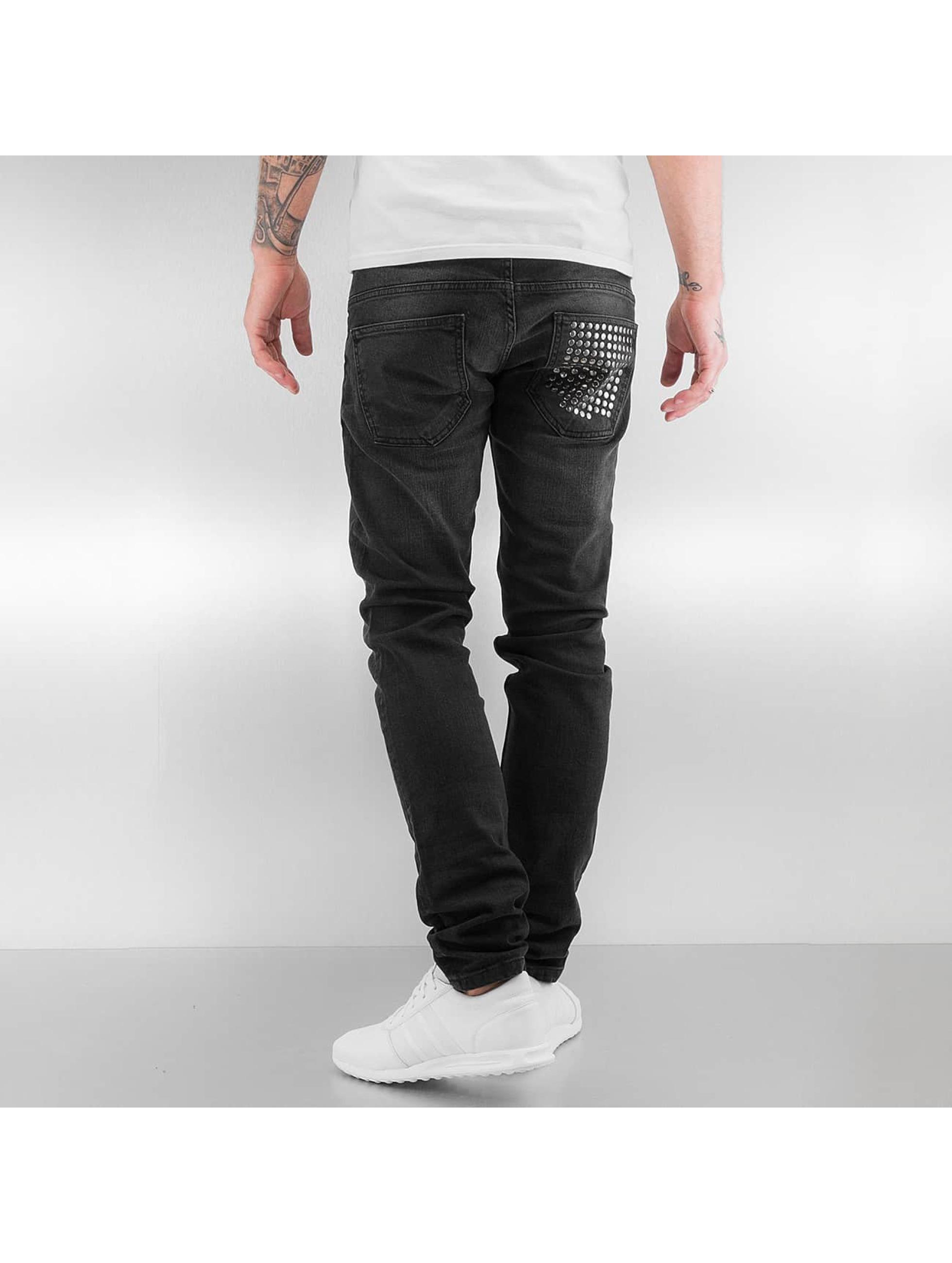 2Y Skinny Jeans Rivet black