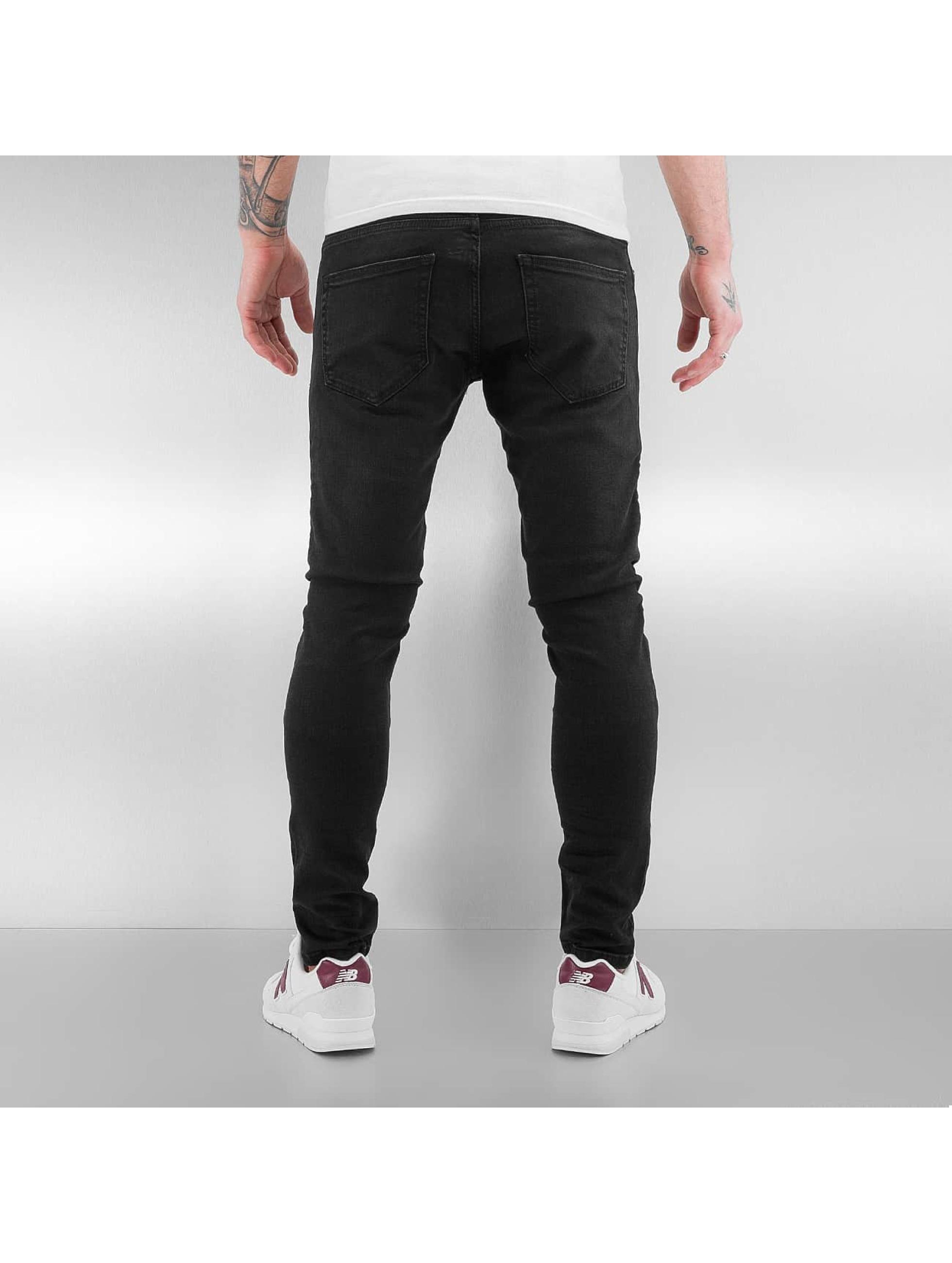 2Y Skinny Jeans Biker black