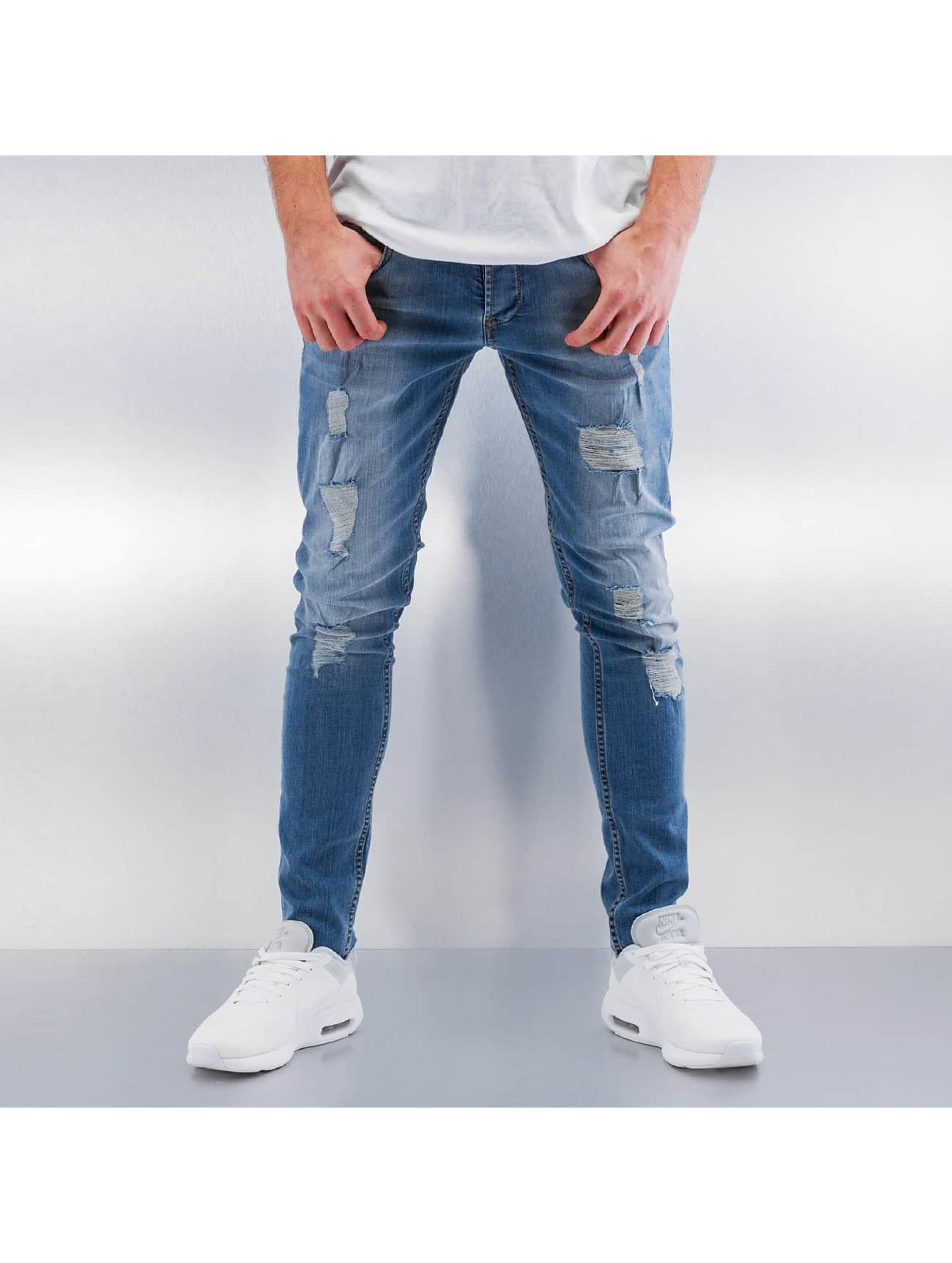 Skinny Jeans Destroyed in blau