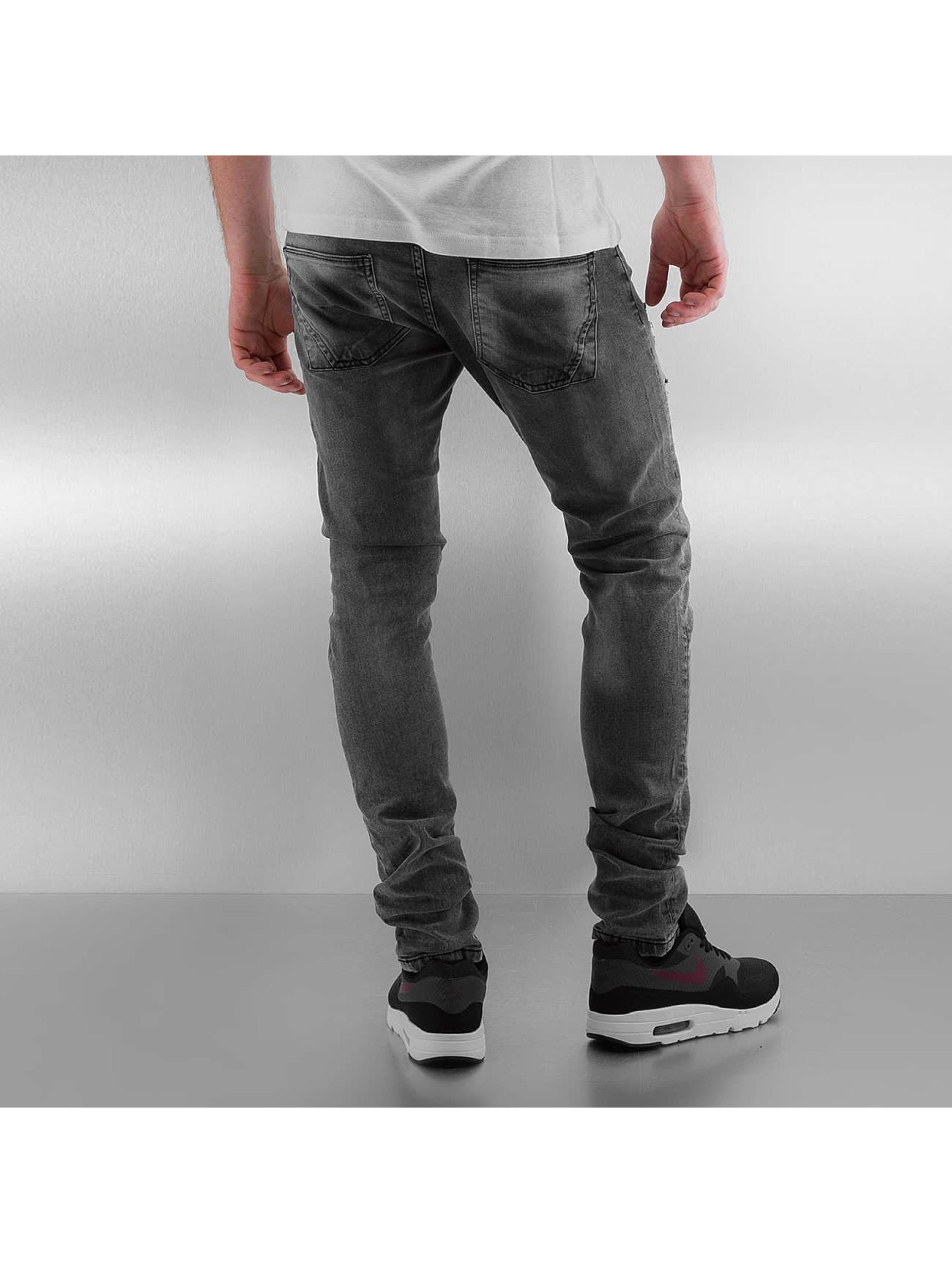 2Y Skinny Jeans Stitch grau