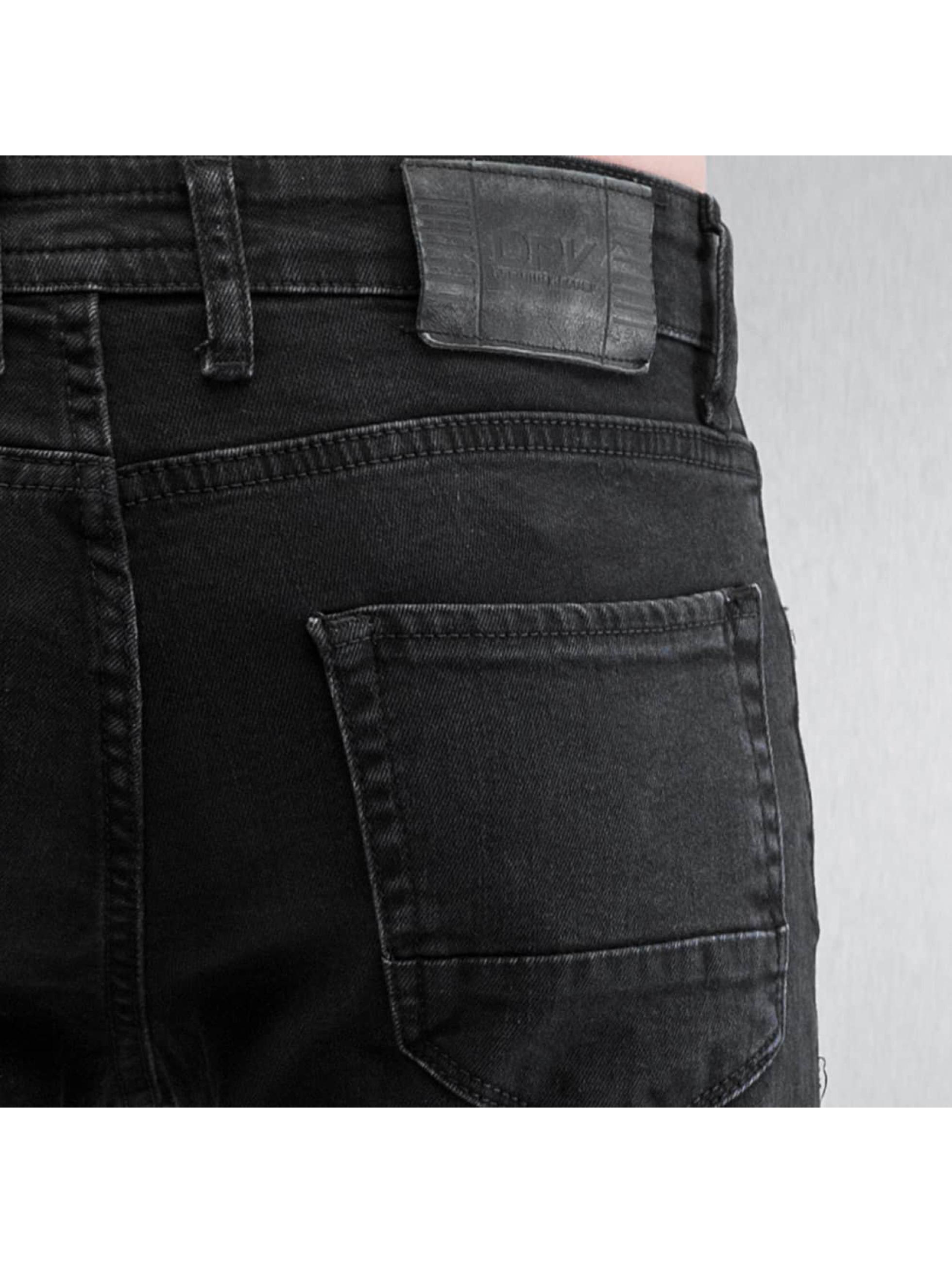 2Y Skinny Jeans Two Tone schwarz