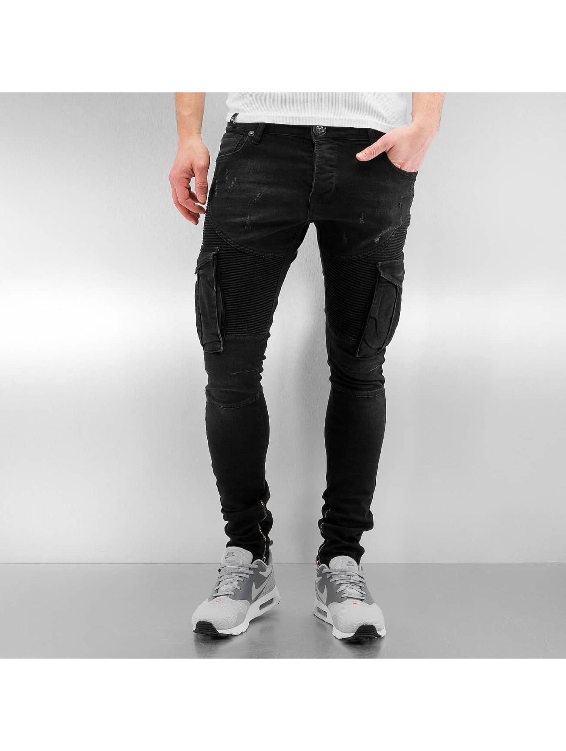 Skinny Jeans Cargo in schwarz
