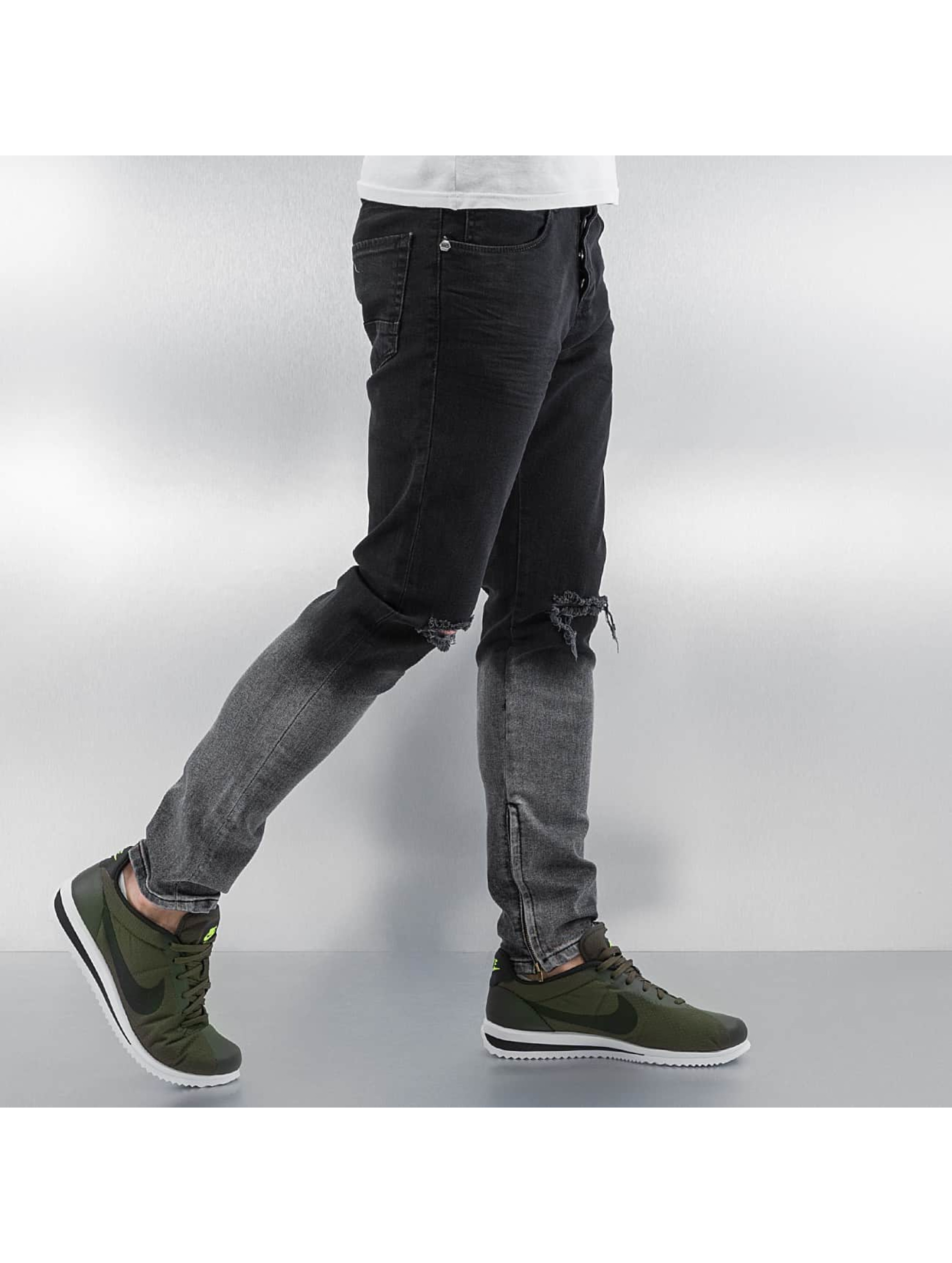 2Y Skinny jeans Two Tone svart