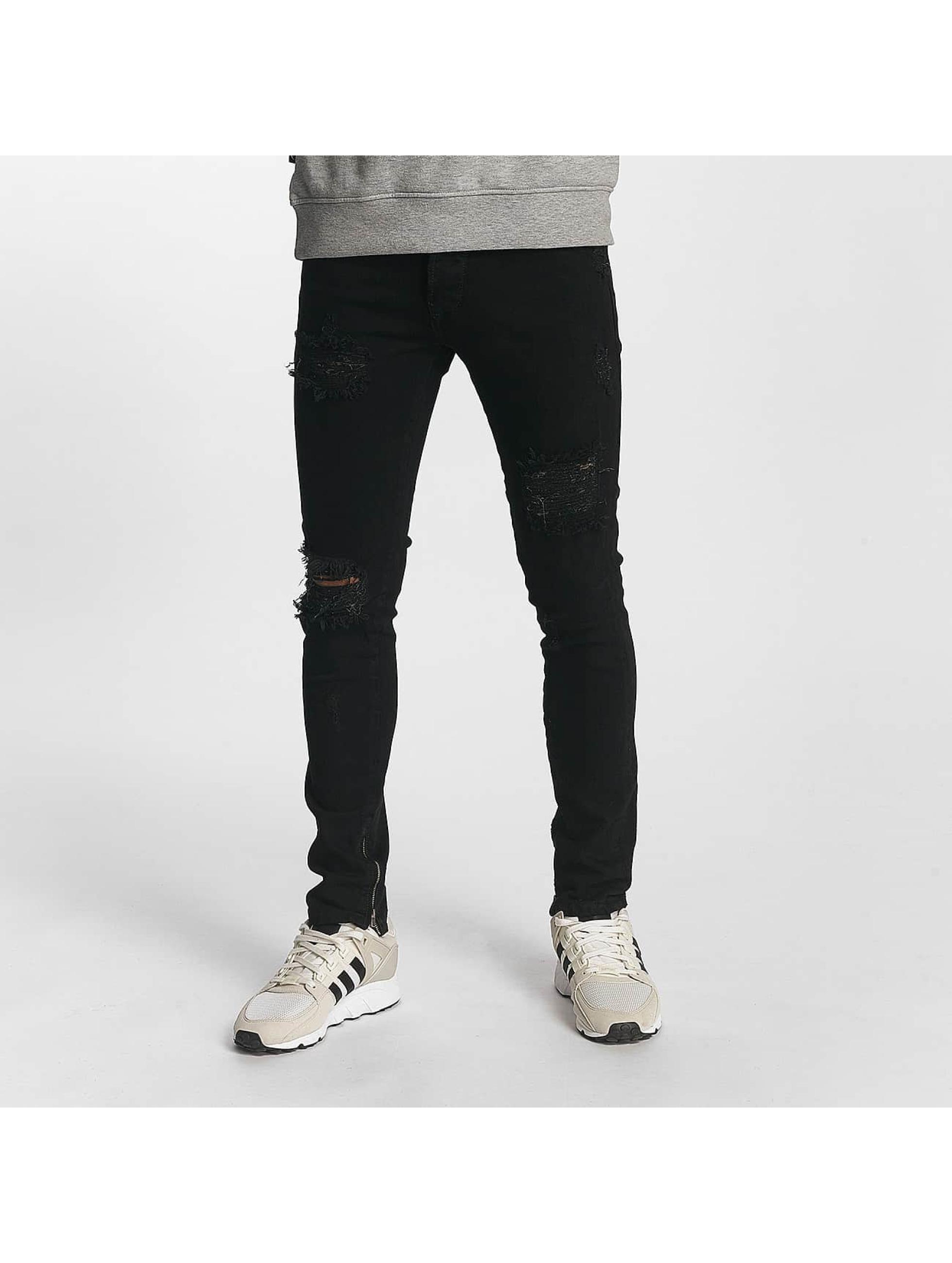 2Y Slim Fit -farkut Alexander musta