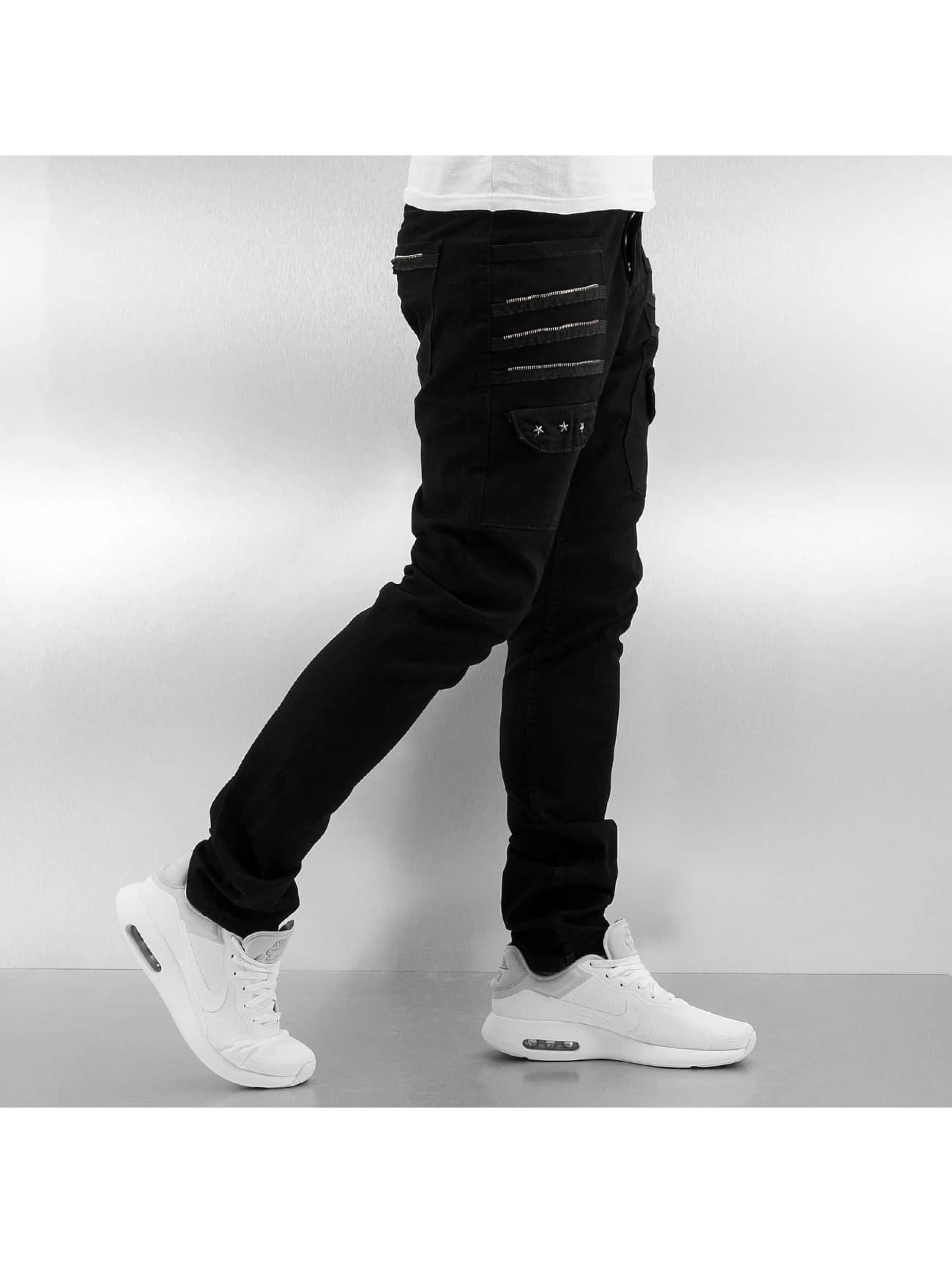 2Y Slim Fit Jeans Zip Fastener black