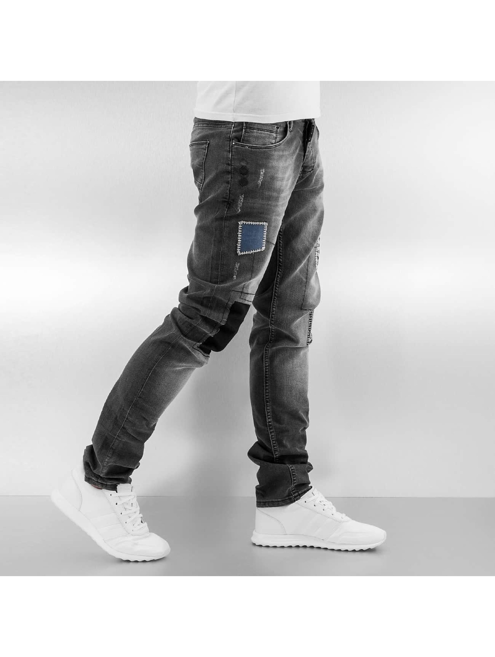 2Y Slim Fit Jeans Patches grau