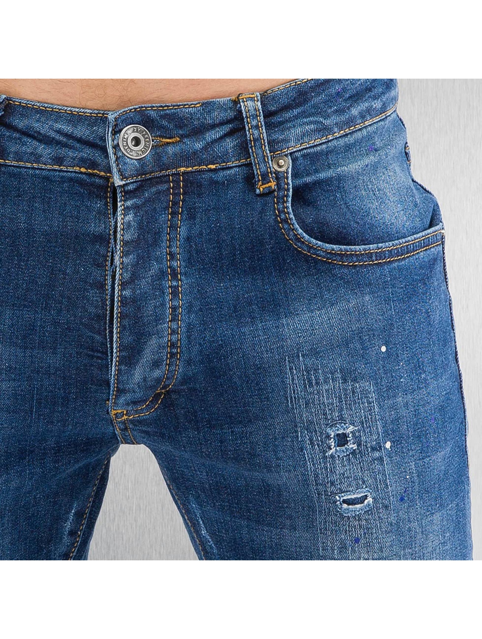 2Y Tynne bukser Worn blå