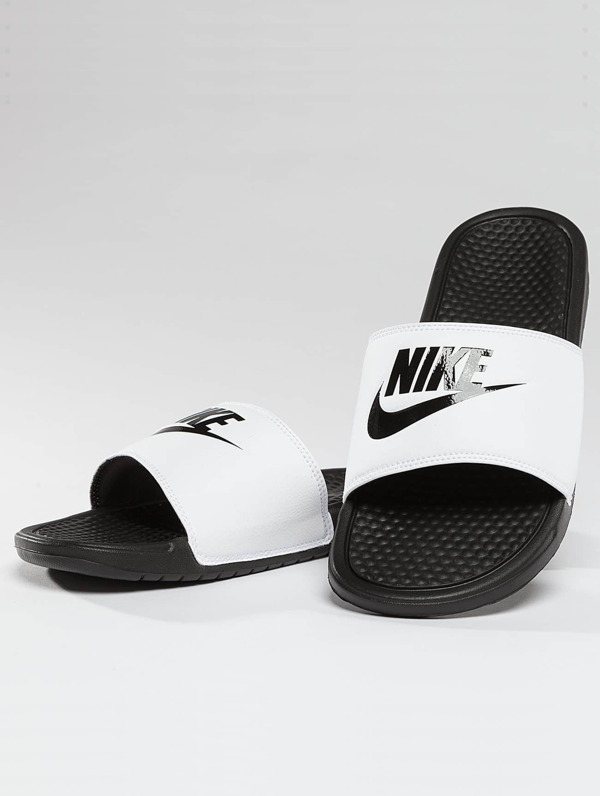 quality products many styles wide varieties Nike Benassi JDI Sandals White/Varsity Royal/White